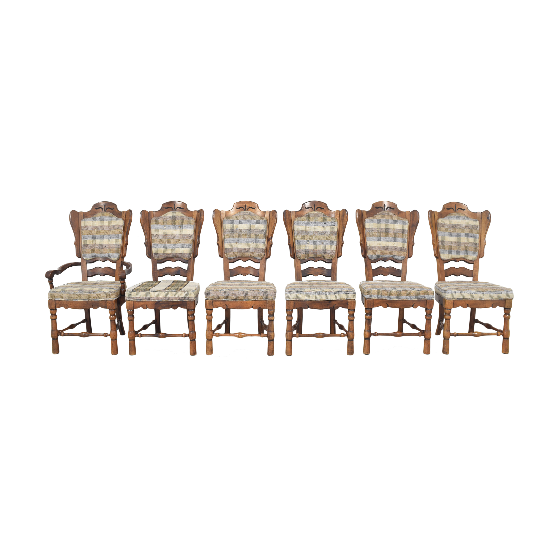 shop Burlington House Furniture Plaid Dining Chairs Burlington House Furniture Chairs