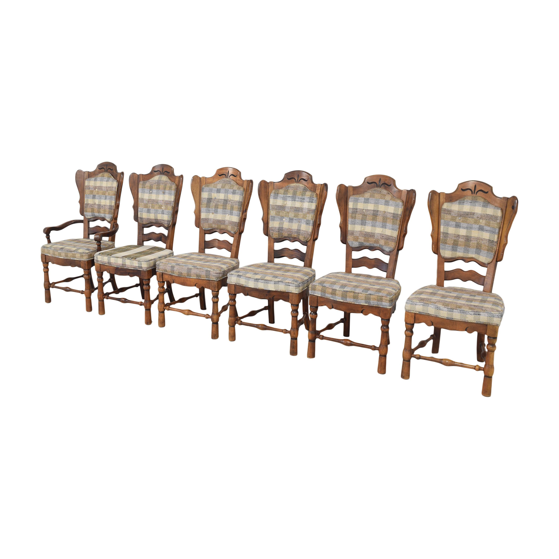 Burlington House Furniture Burlington House Furniture Plaid Dining Chairs ma