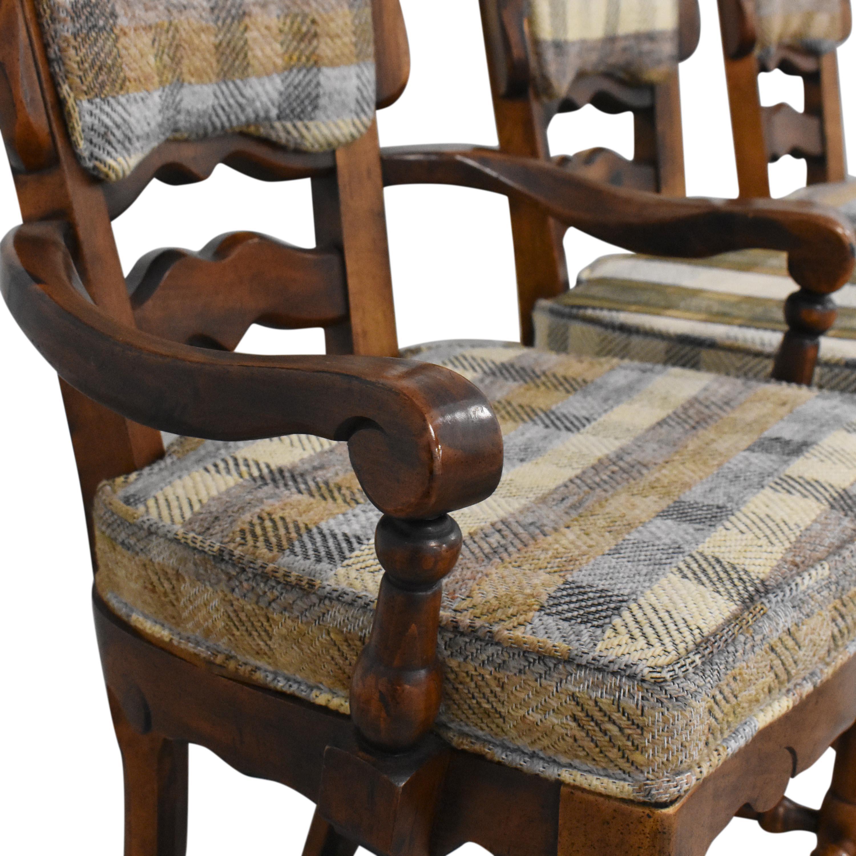 Burlington House Furniture Burlington House Furniture Plaid Dining Chairs Chairs