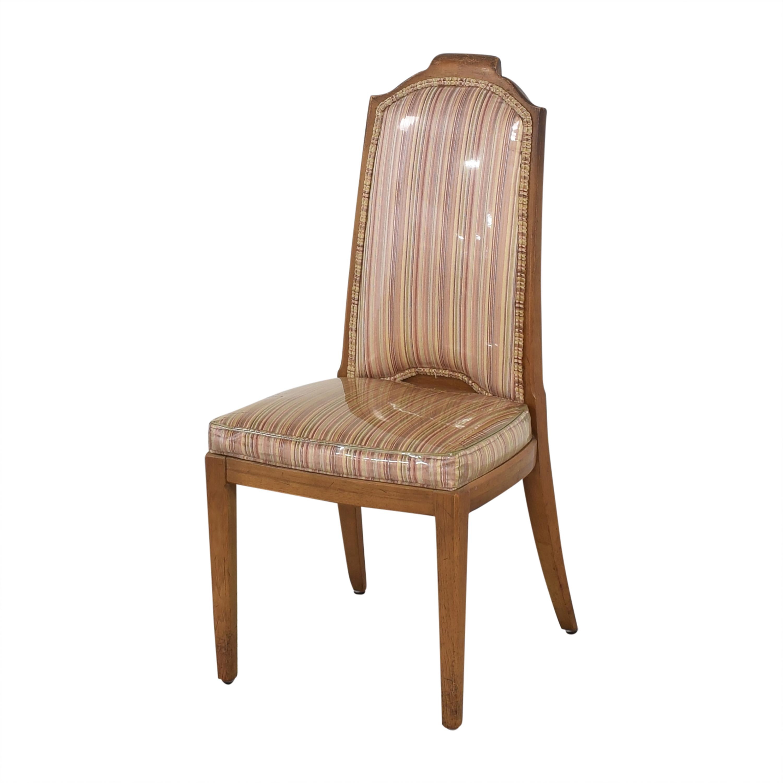 Drexel Drexel Stripe Upholstered Dining Chairs multi