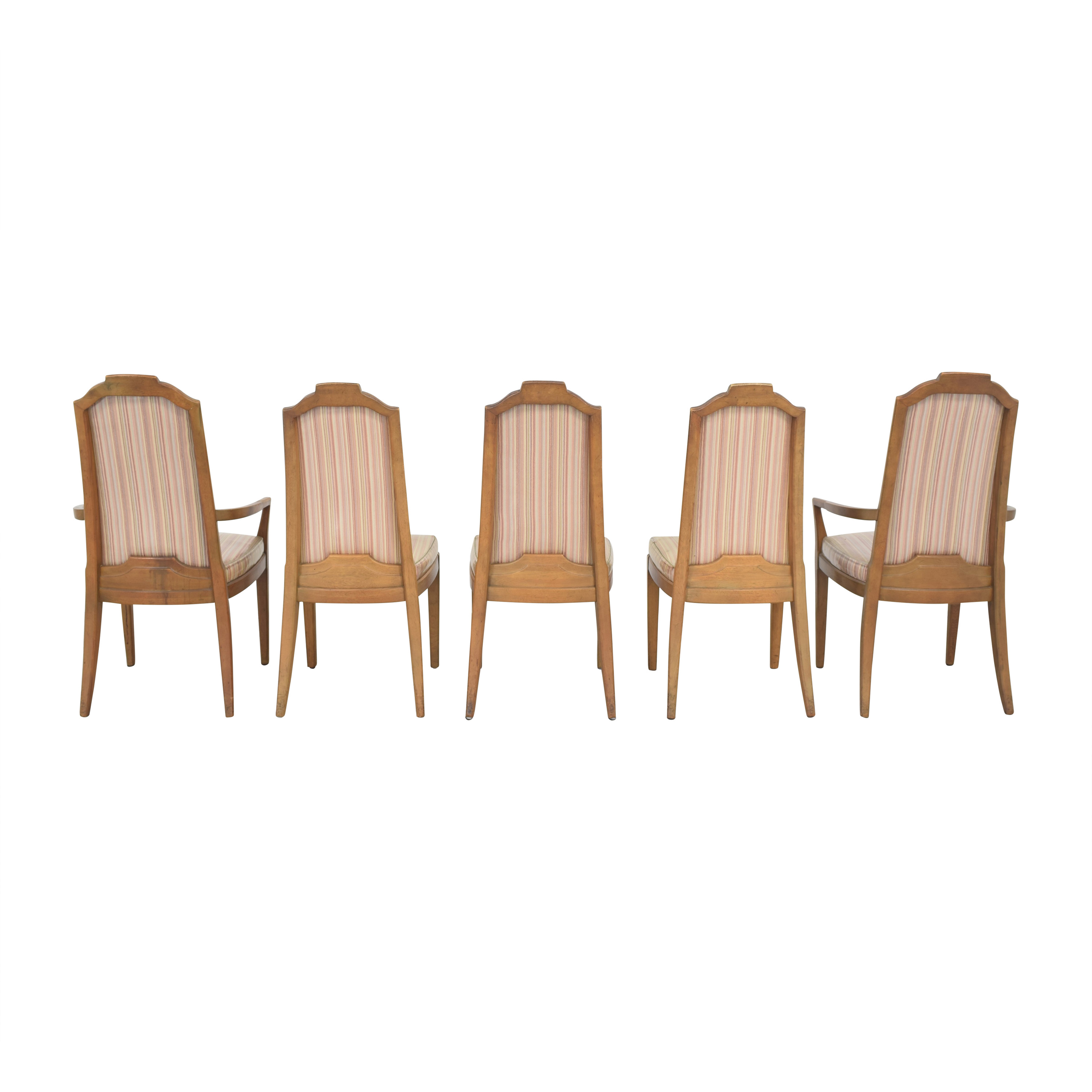 Drexel Drexel Stripe Upholstered Dining Chairs Chairs