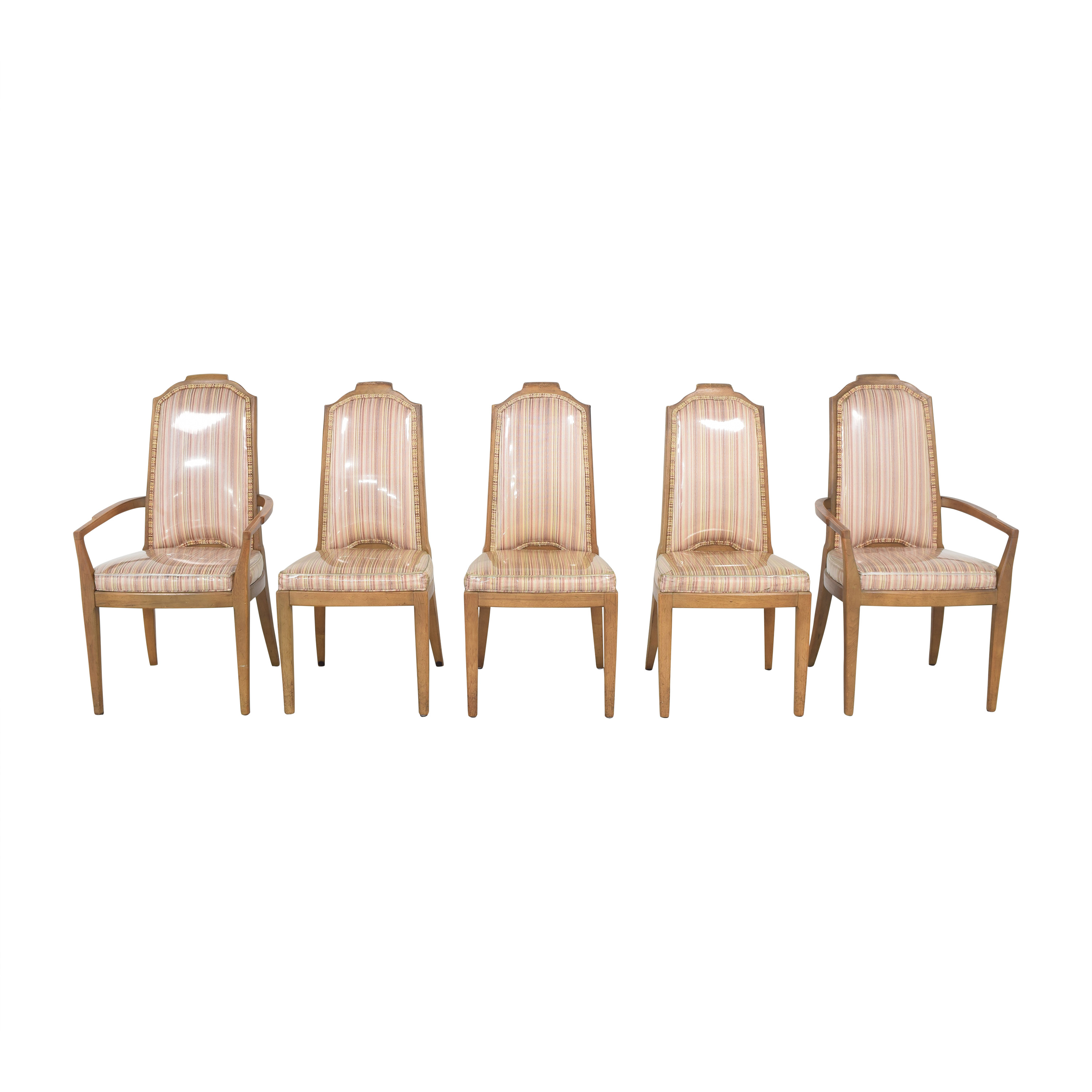 Drexel Drexel Stripe Upholstered Dining Chairs