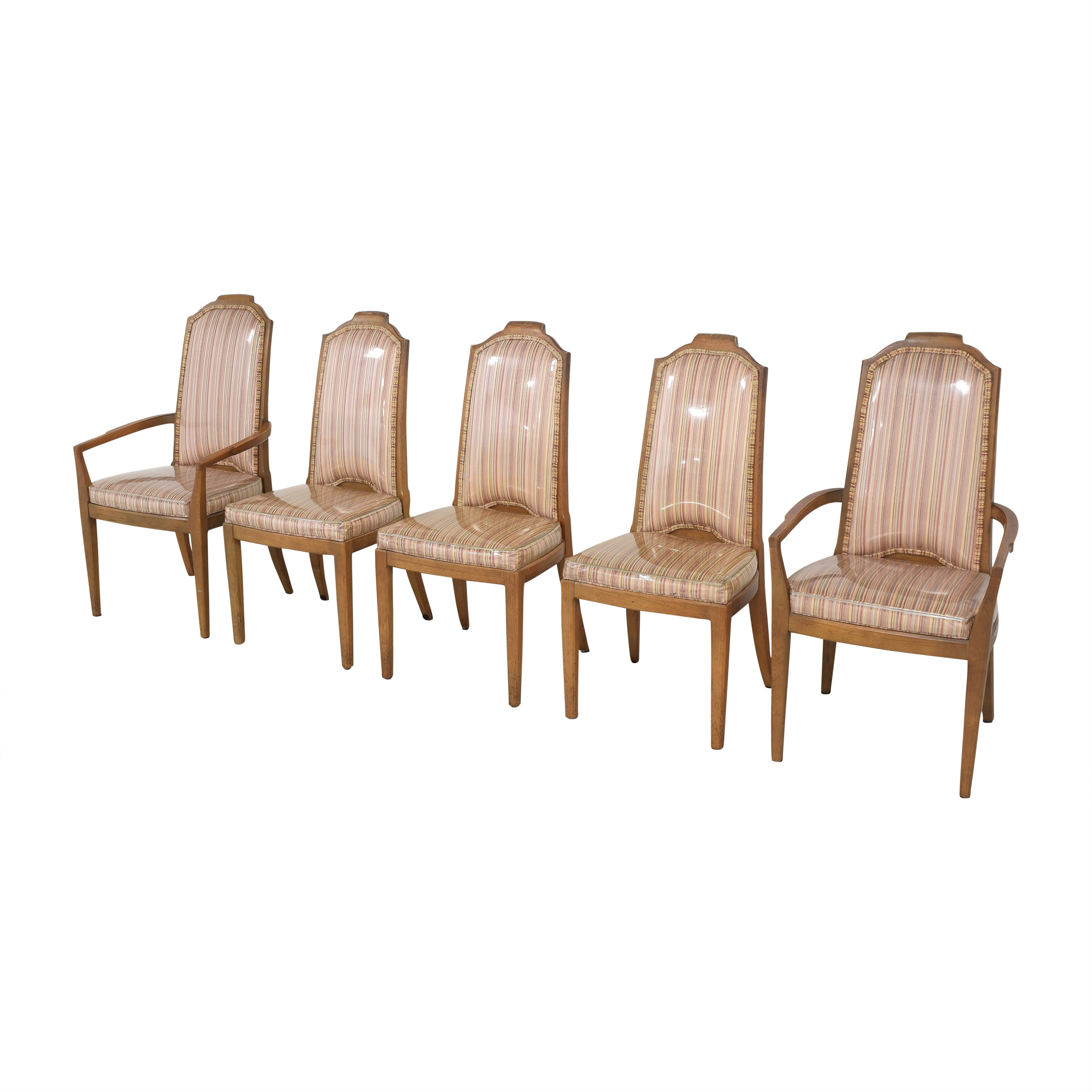 Drexel Drexel Stripe Upholstered Dining Chairs coupon