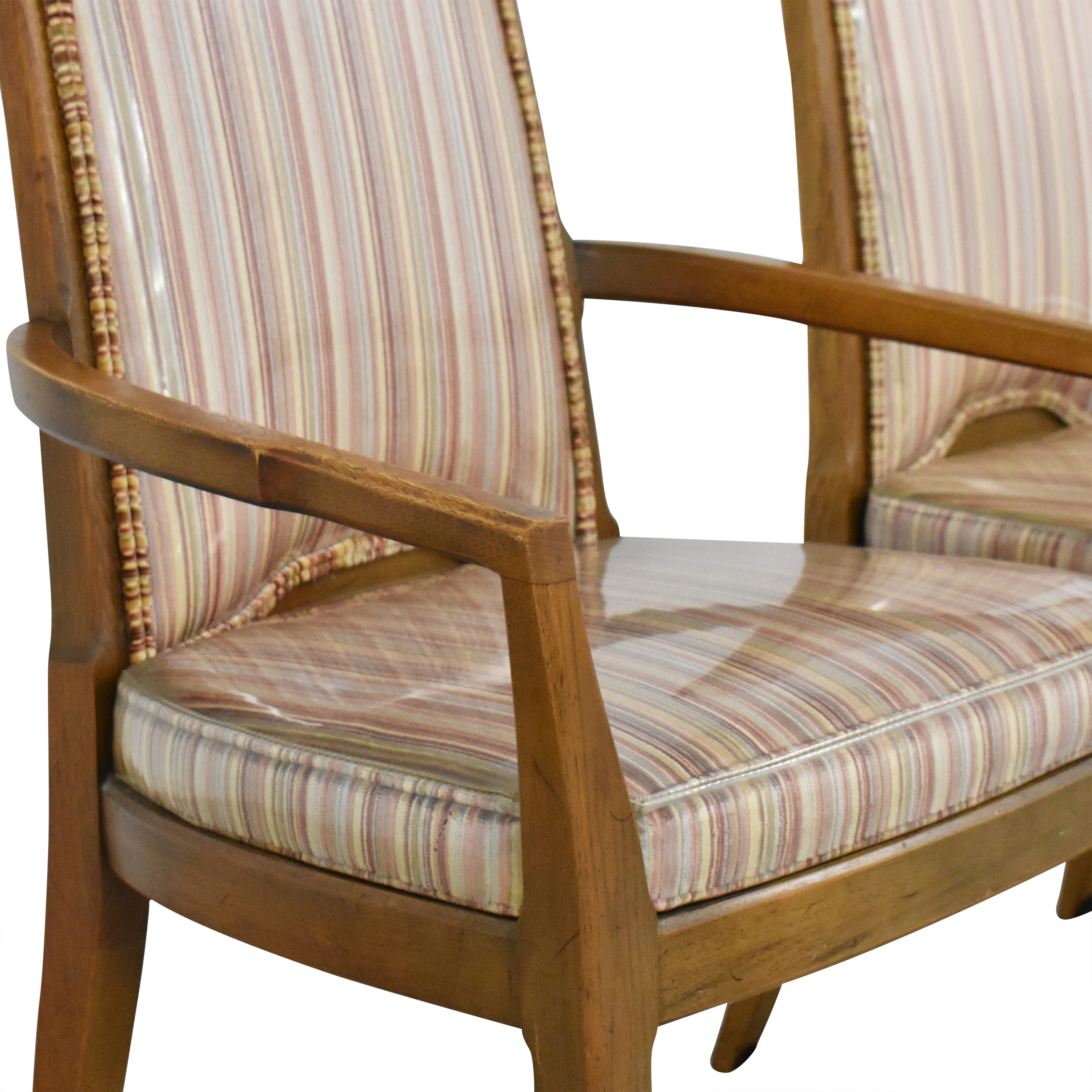 shop Drexel Stripe Upholstered Dining Chairs Drexel Chairs