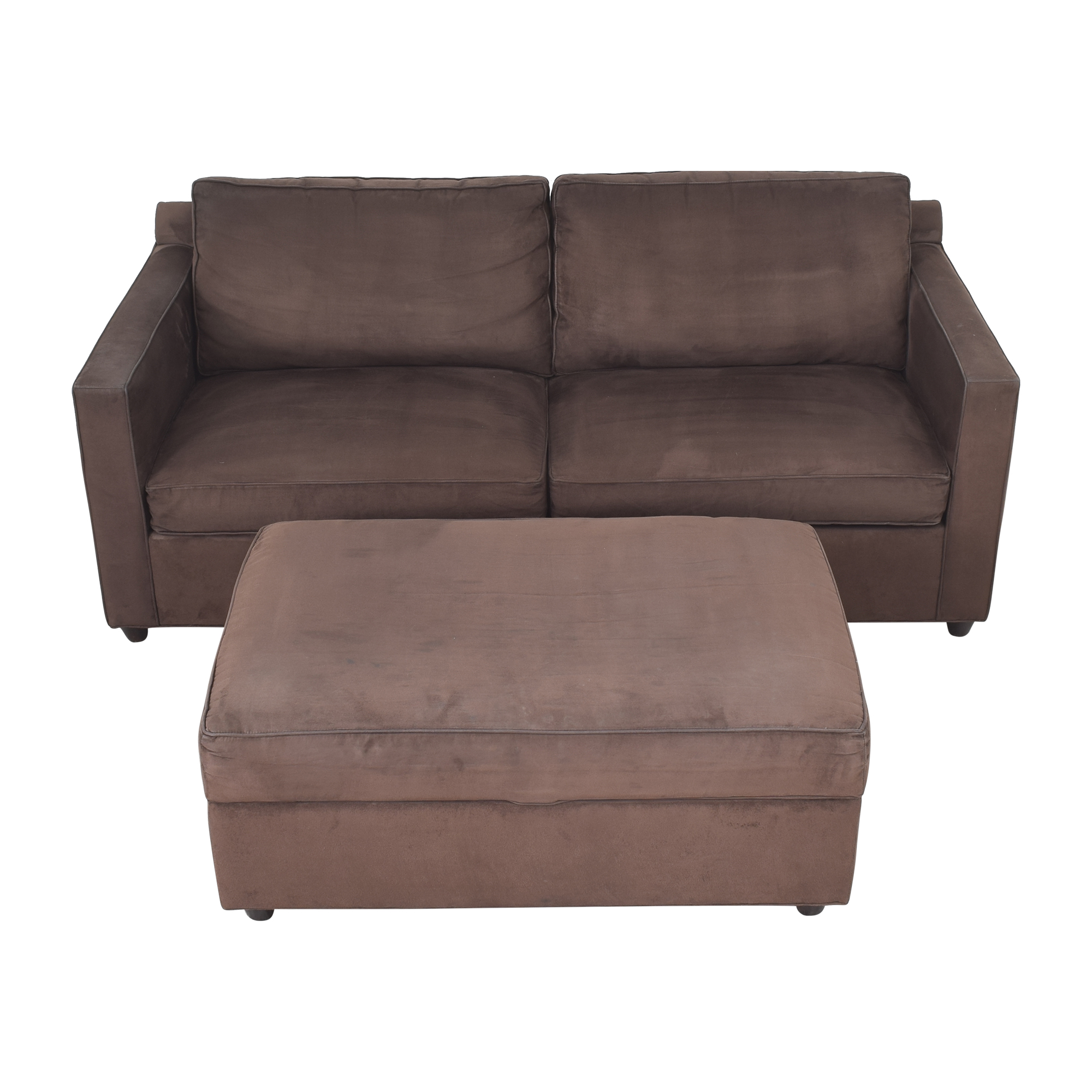 shop Crate & Barrel Crate & Barrel Two Cushion Sofa with Storage Ottoman online