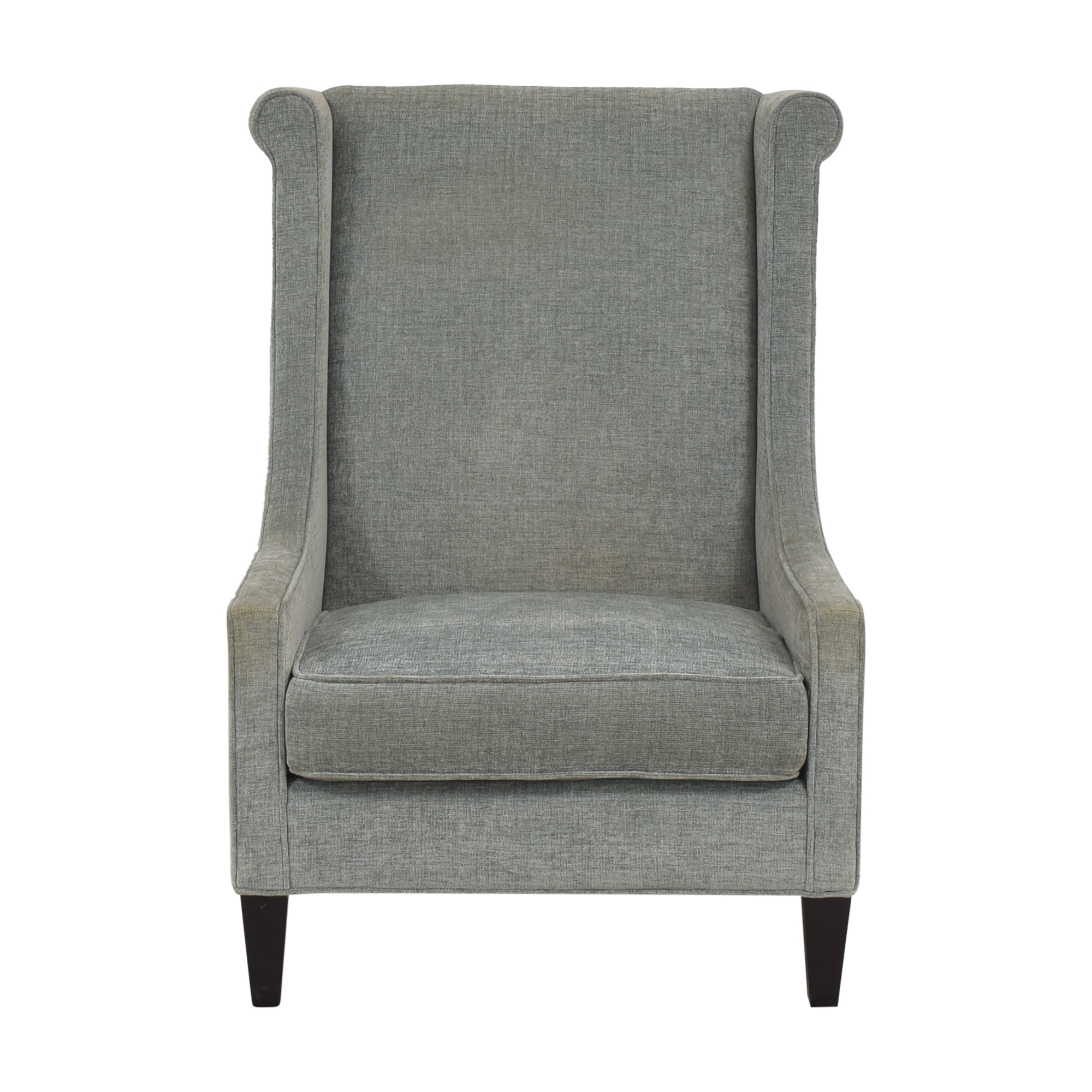 Custom Upholstered Accent Chair light blue