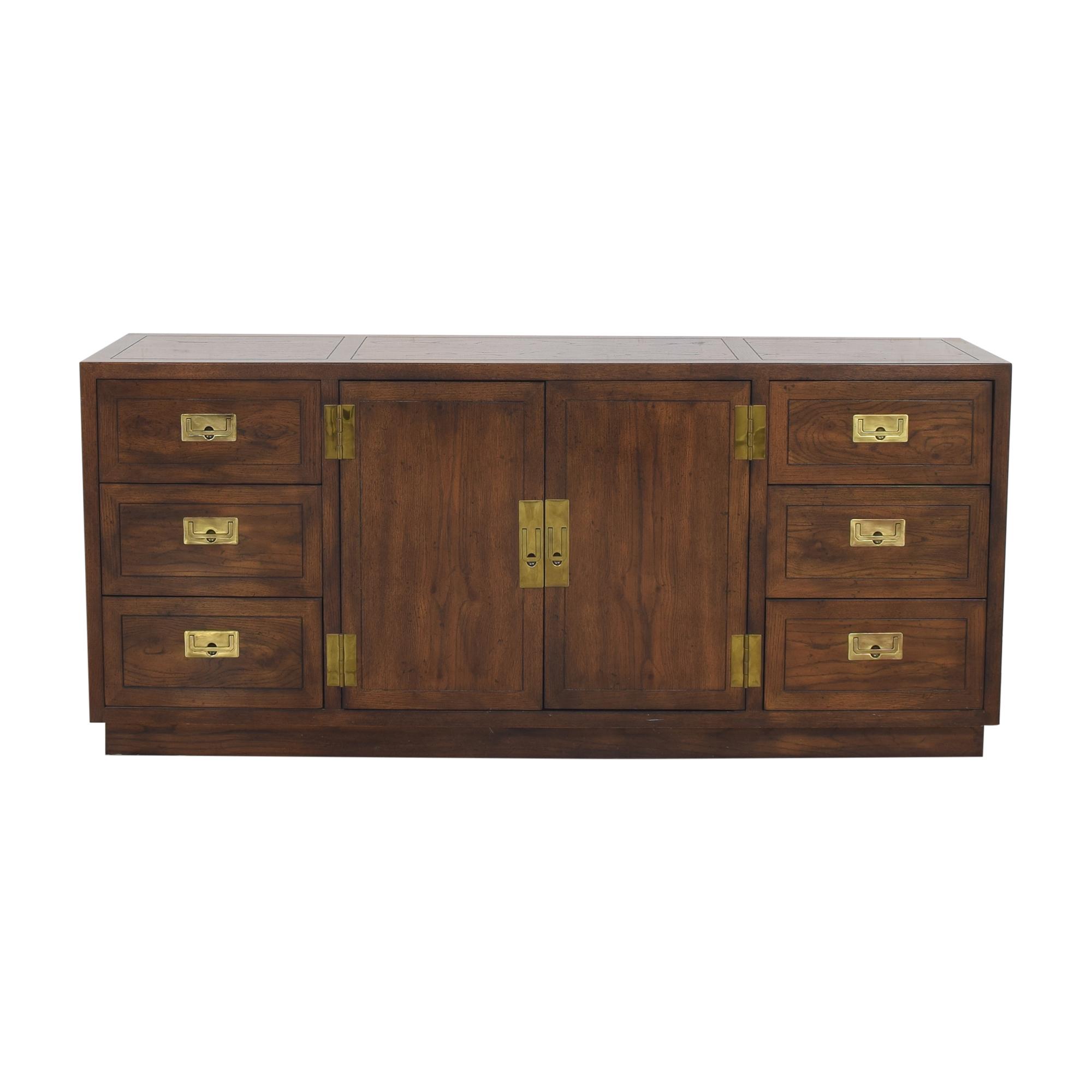 buy Henredon Campaign Style Sideboard Henredon Furniture Cabinets & Sideboards
