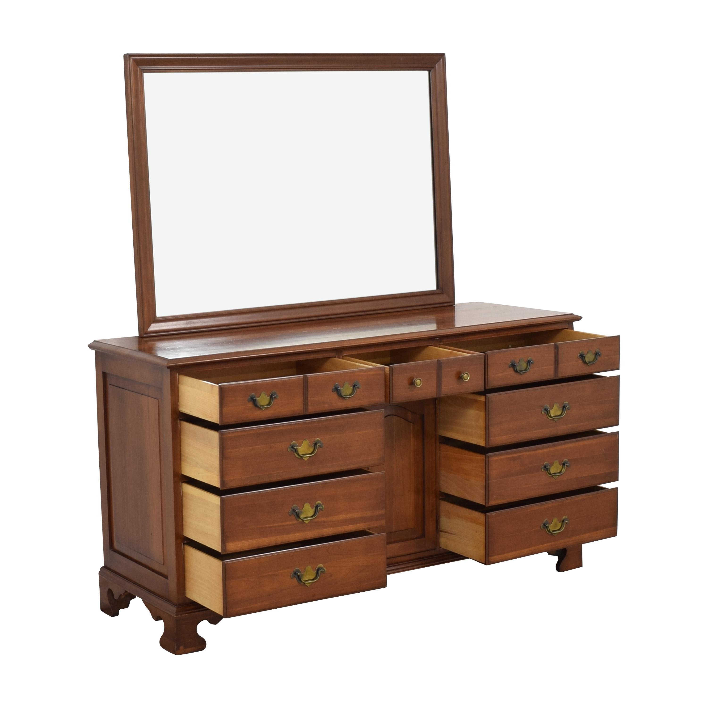 buy Permacraft Twelve Drawer Concord Dresser with Mirror Permacraft Dressers