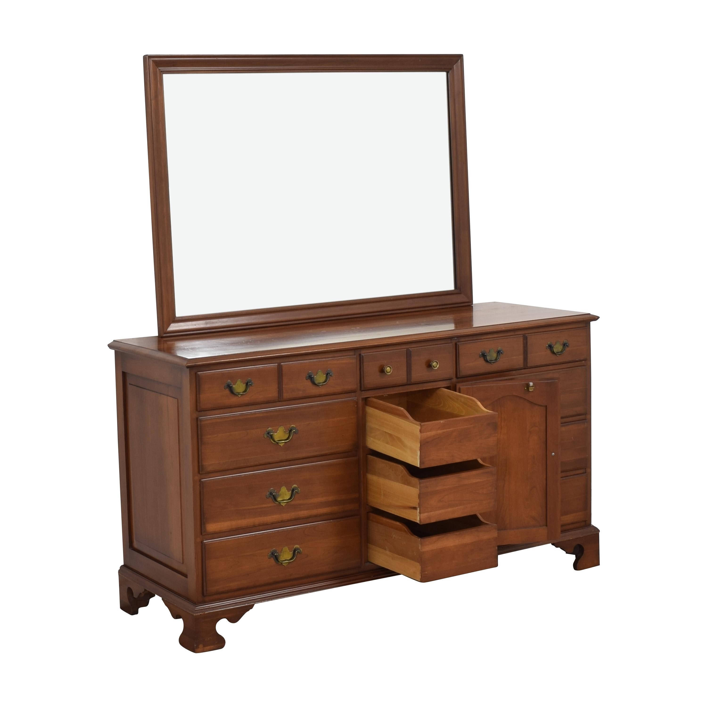 shop Permacraft Twelve Drawer Concord Dresser with Mirror Permacraft