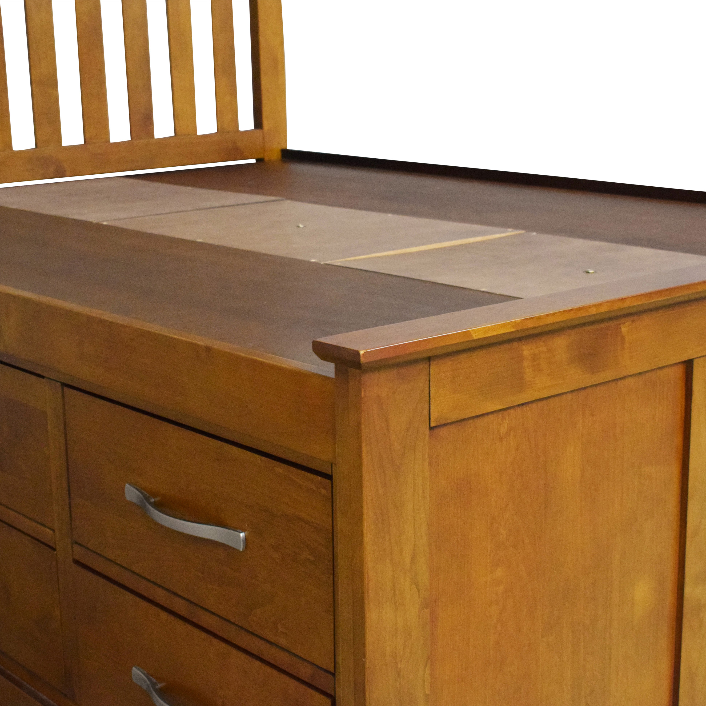shop Raymour & Flanigan Captain's Full Bed Raymour & Flanigan Bed Frames