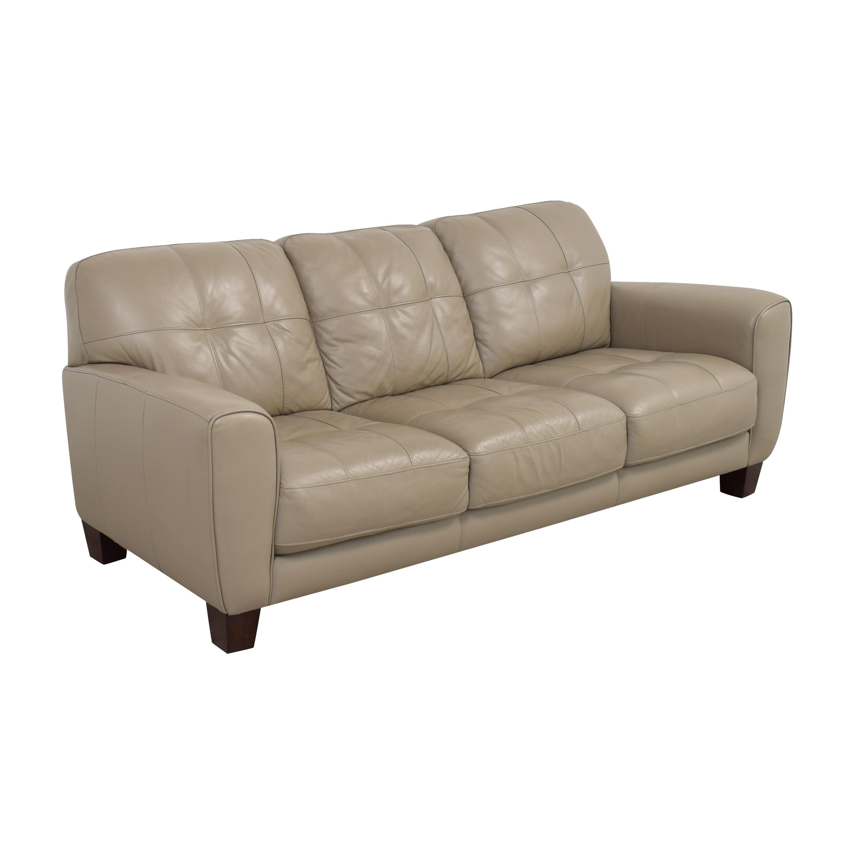Macy's Macy's Kaleb Tufted Three Cushion Sofa Classic Sofas
