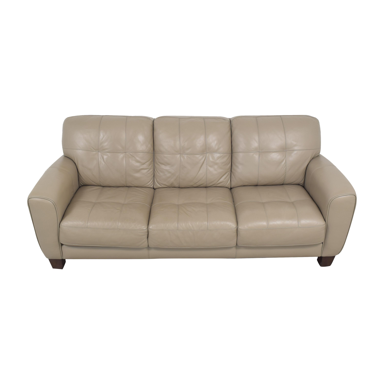 Macy's Macy's Kaleb Tufted Three Cushion Sofa pa