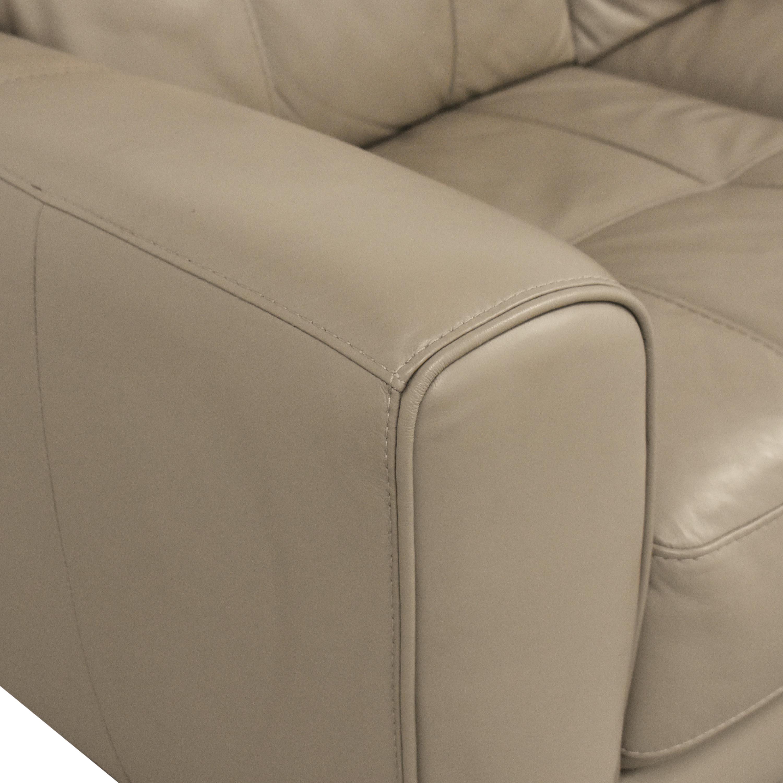 Macy's Macy's Kaleb Tufted Three Cushion Sofa beige