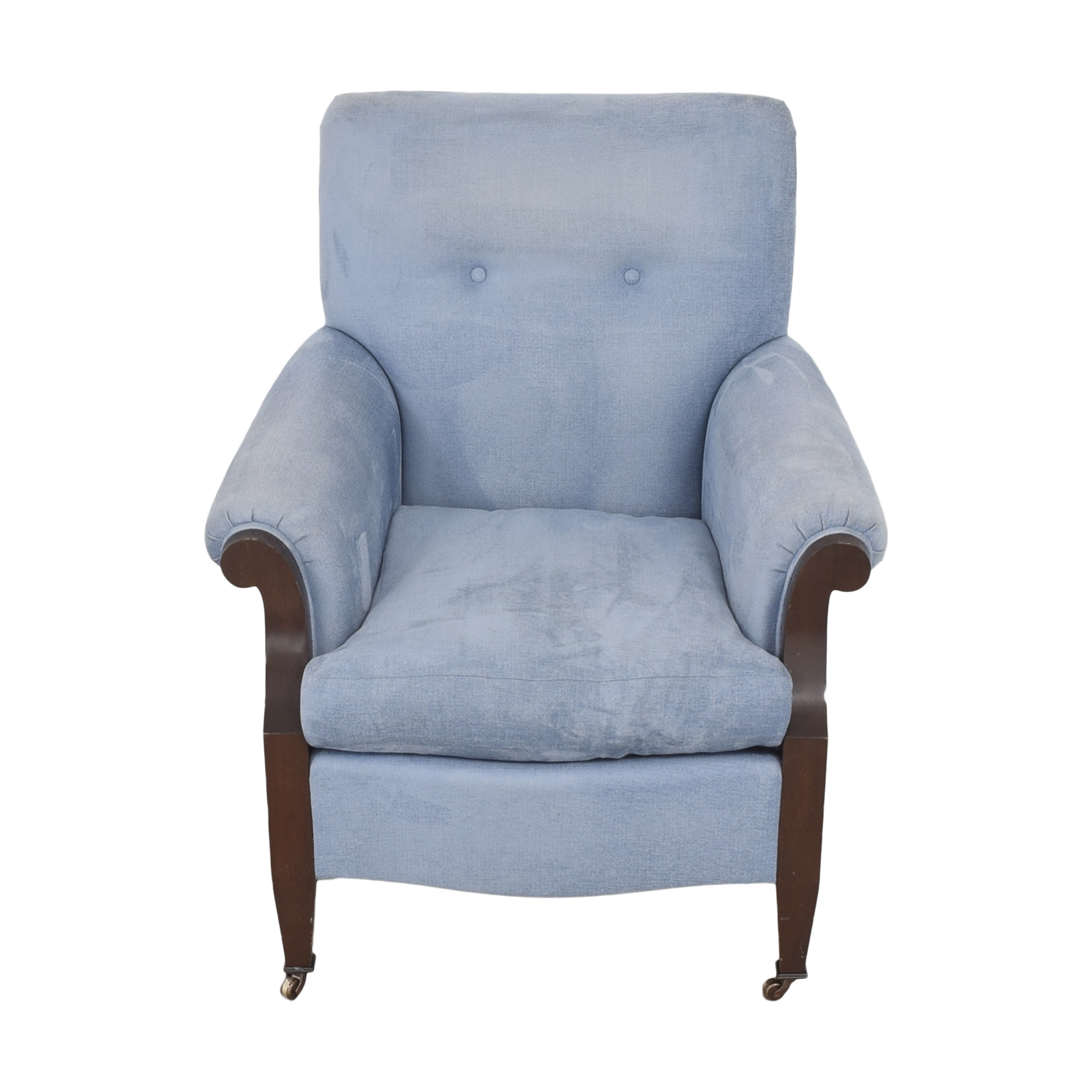 buy Buttoned Club Chair with Casters  Chairs