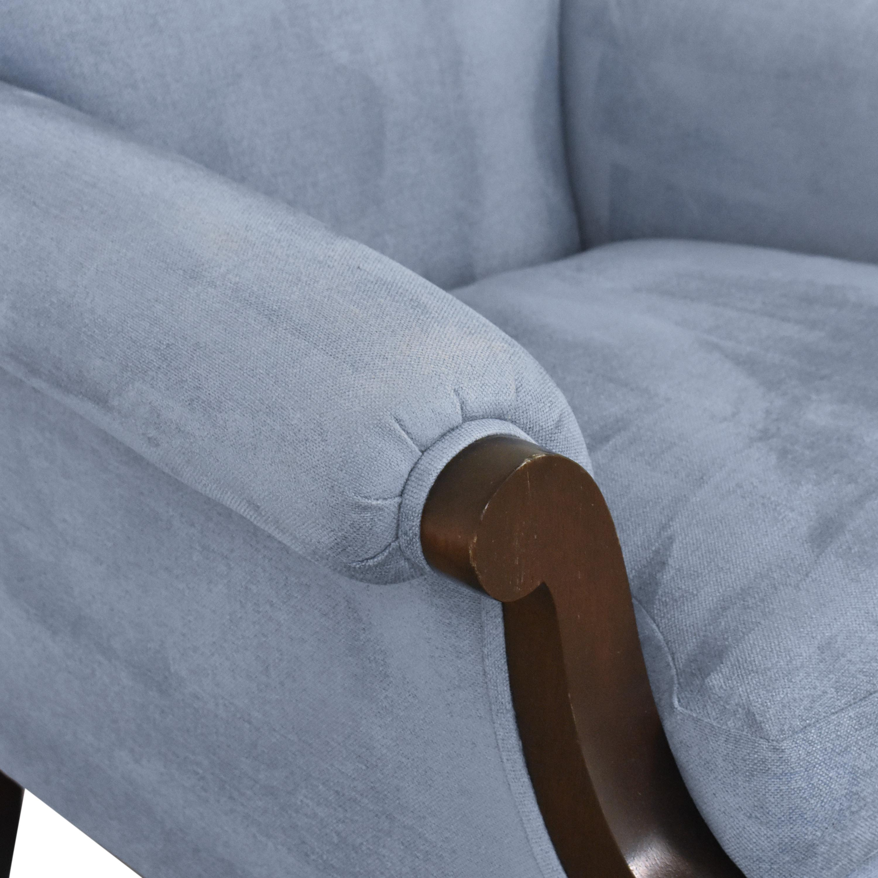 Buttoned Club Chair with Casters sale