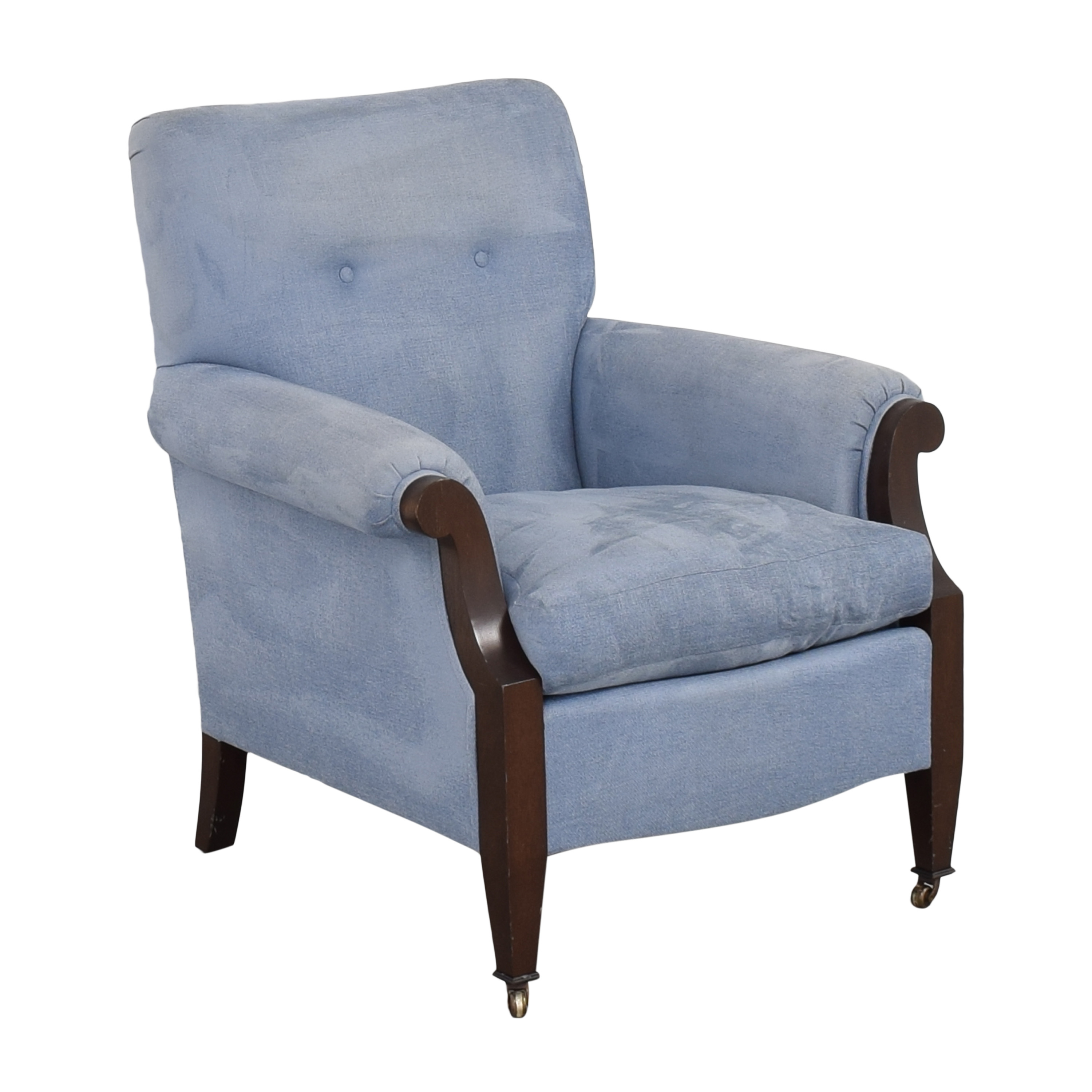 buy Buttoned Club Chair with Casters  Accent Chairs