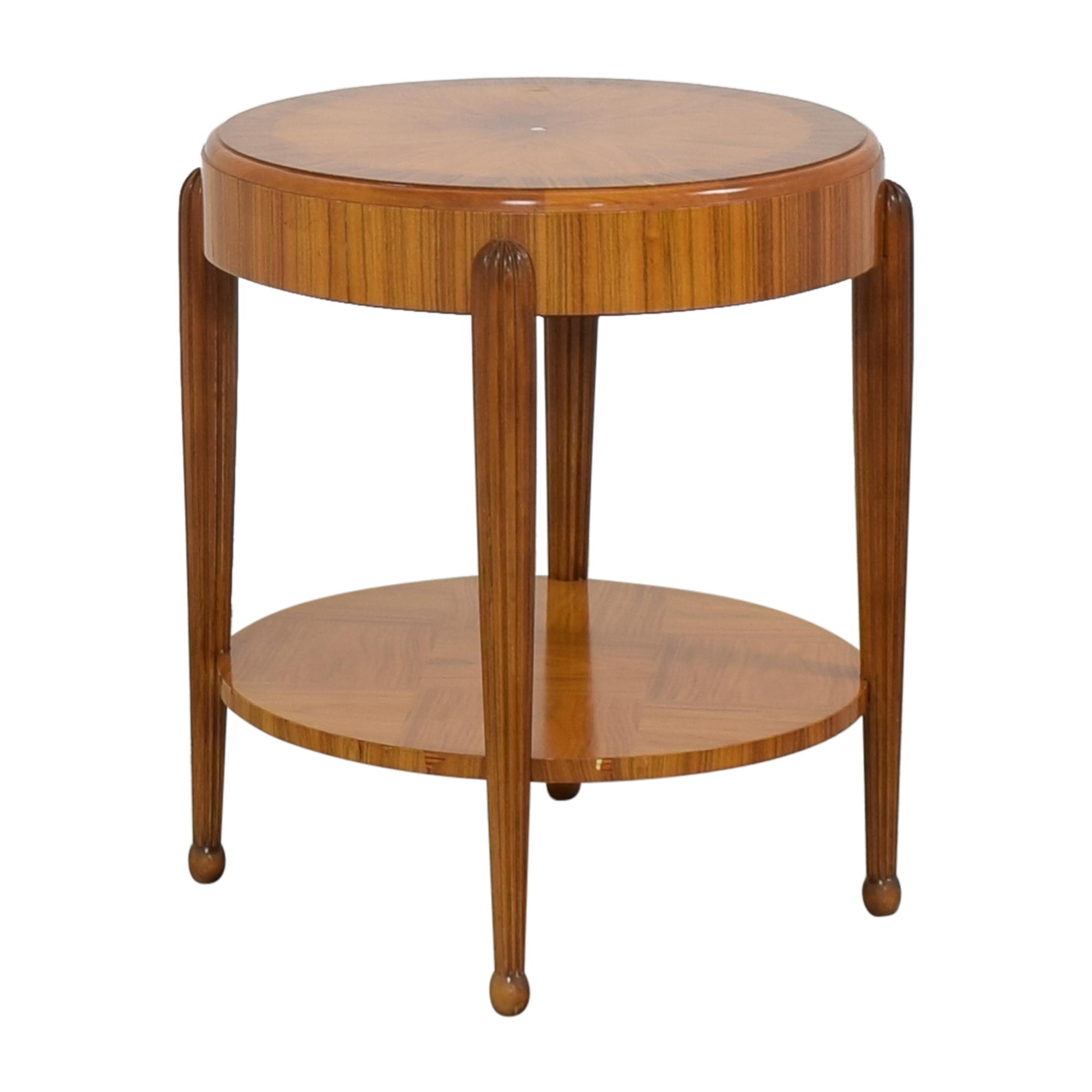 Round Art Deco Side Table Accent Tables