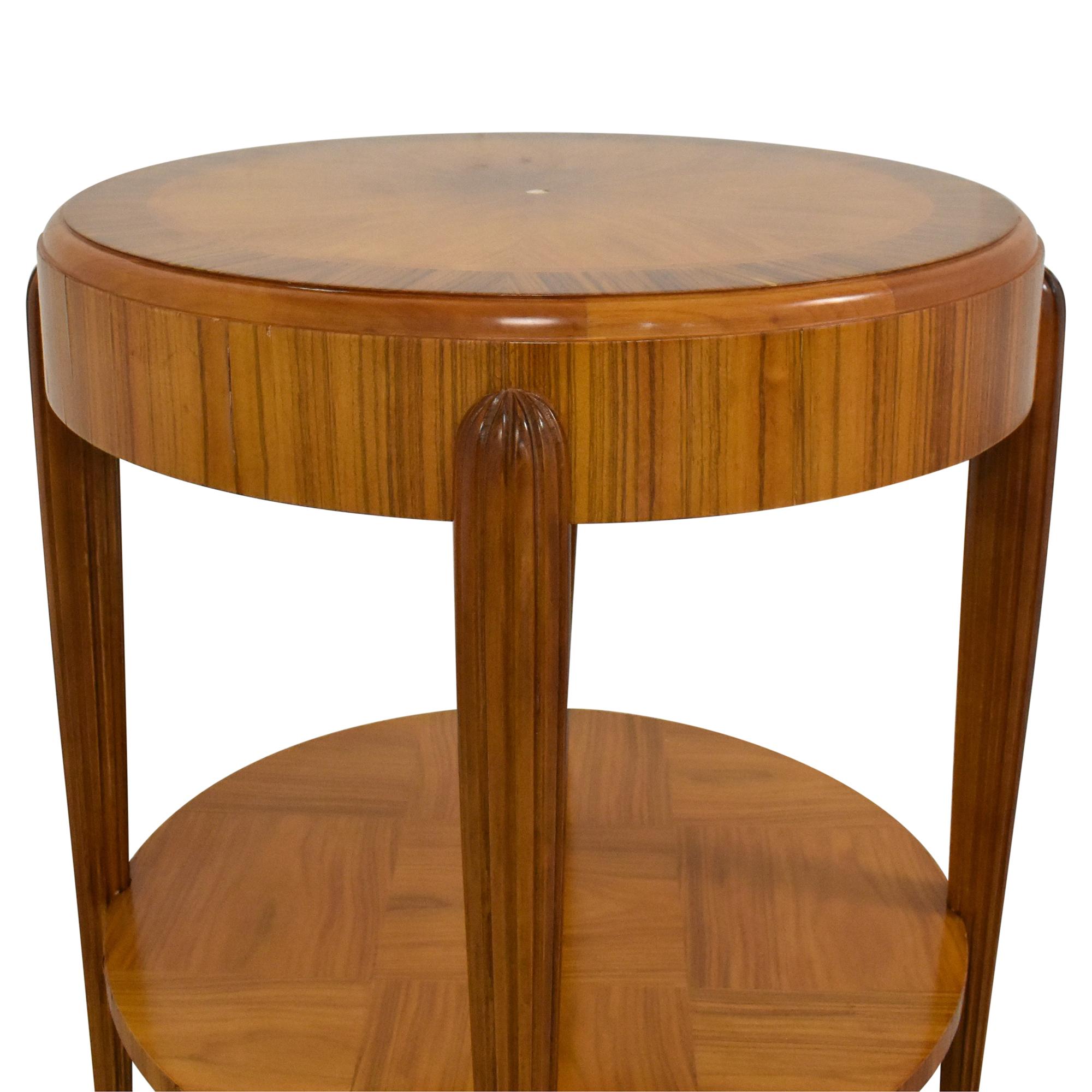 Round Art Deco Side Table nj