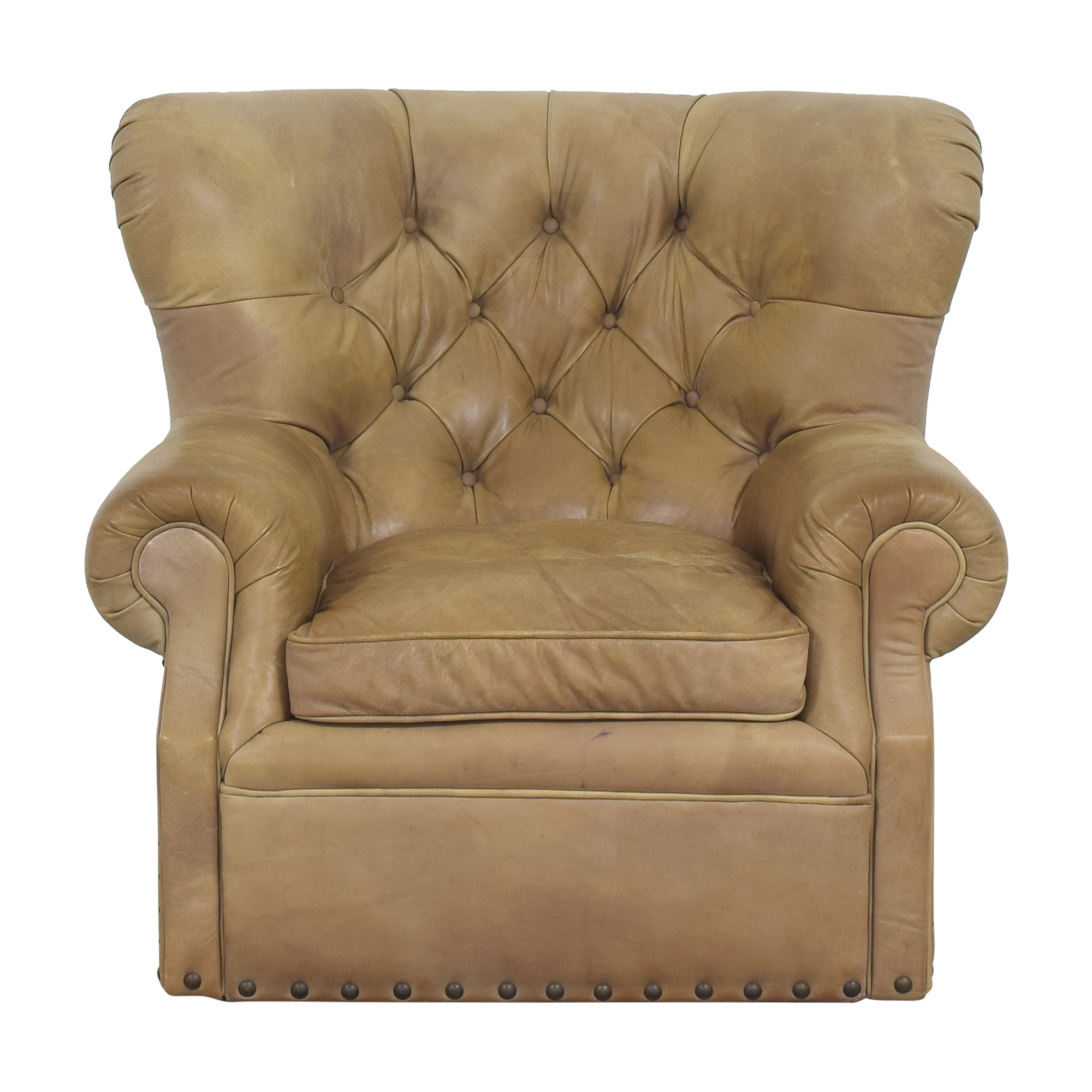 Restoration Hardware Churchill Swivel Chair with Nailheads / Accent Chairs