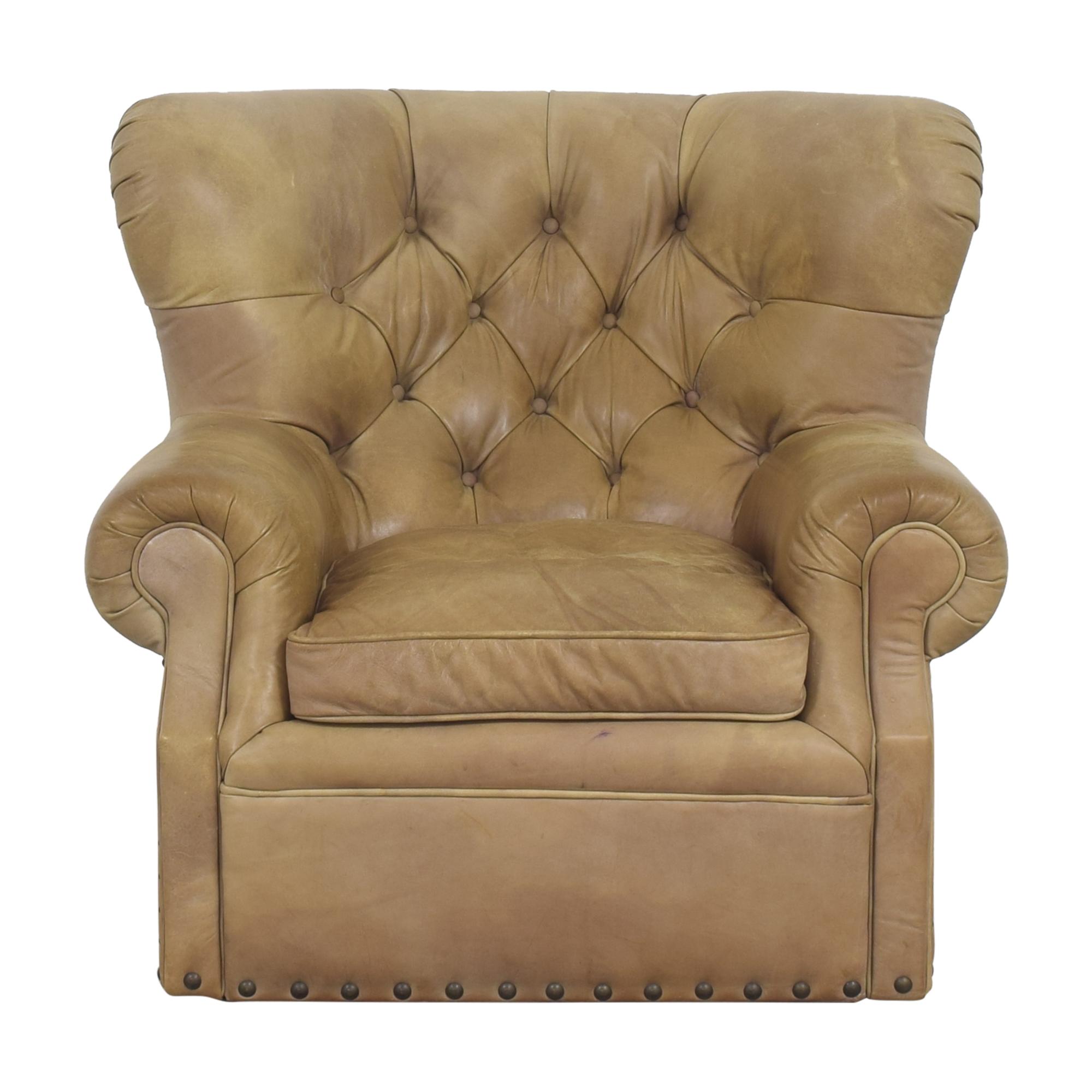buy Restoration Hardware Churchill Swivel Chair with Nailheads Restoration Hardware Chairs