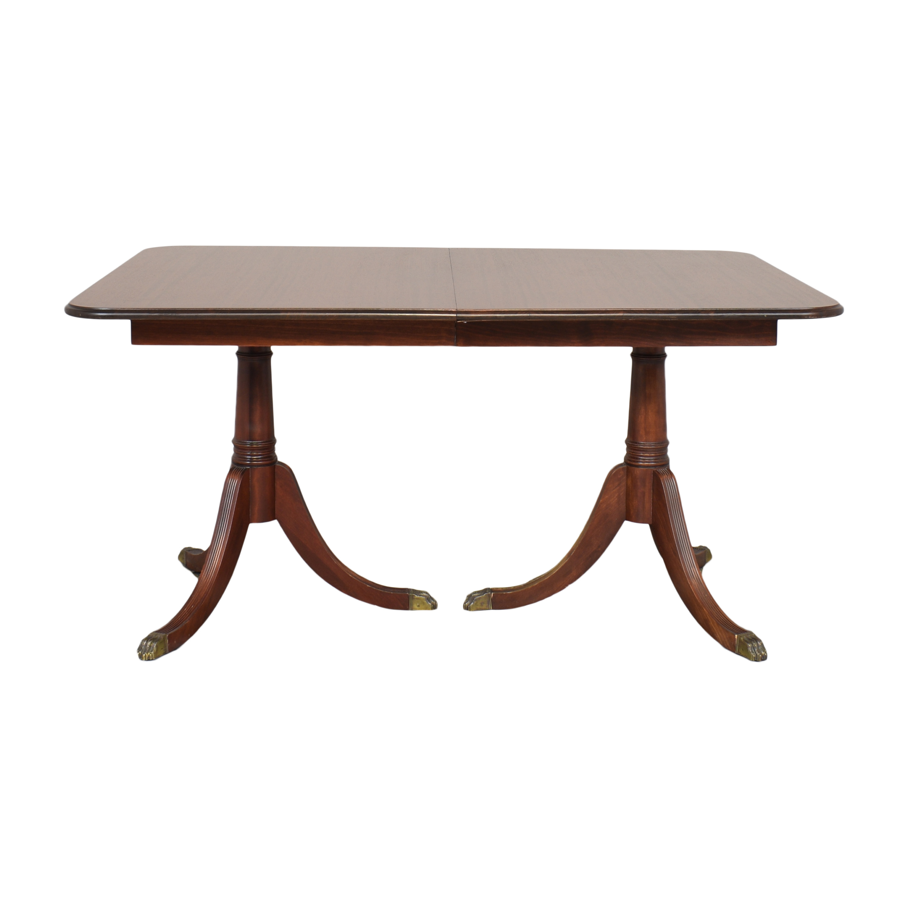 Double Pedestal Extendable Dining Table used