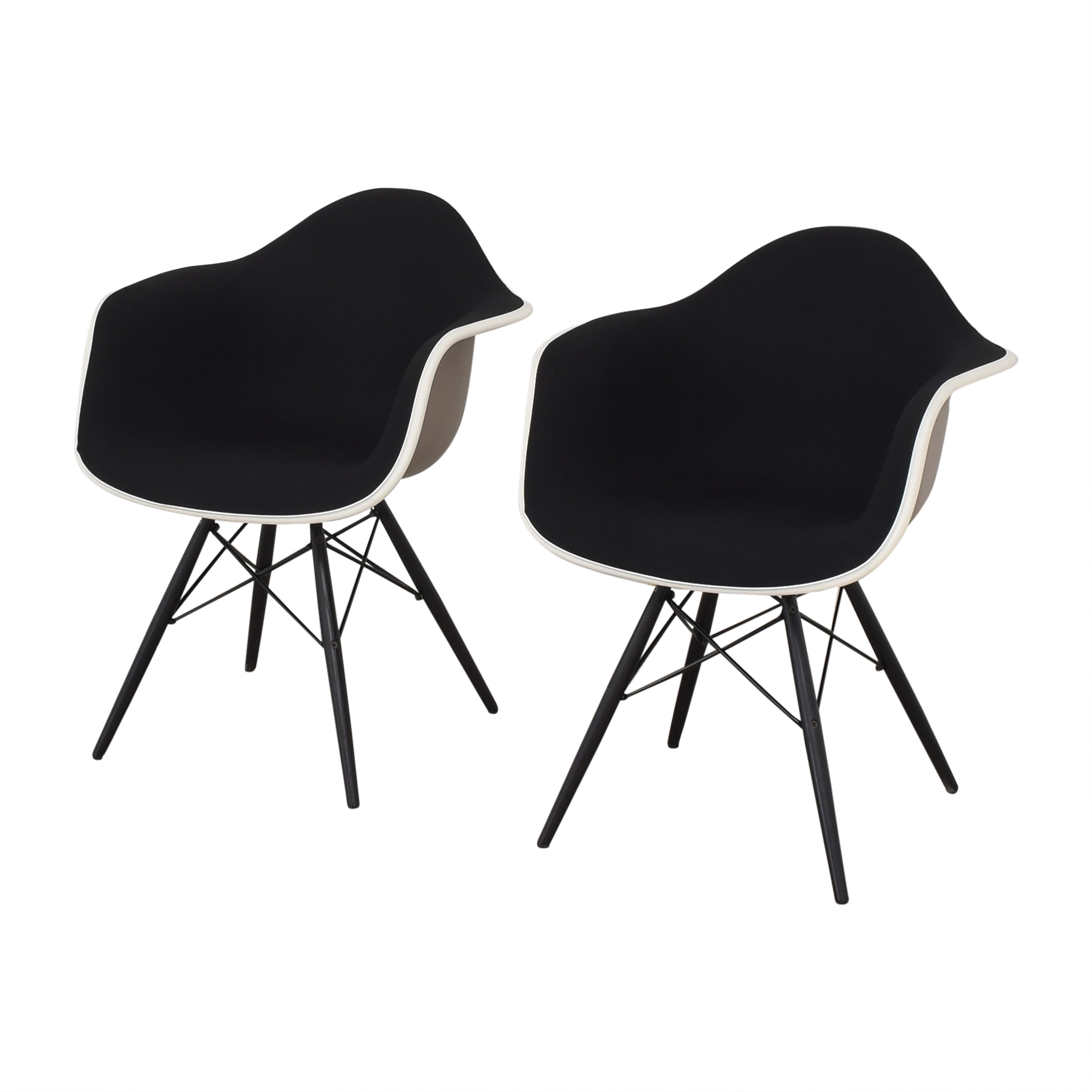 Herman Miller Eames Molded Arm Chairs sale
