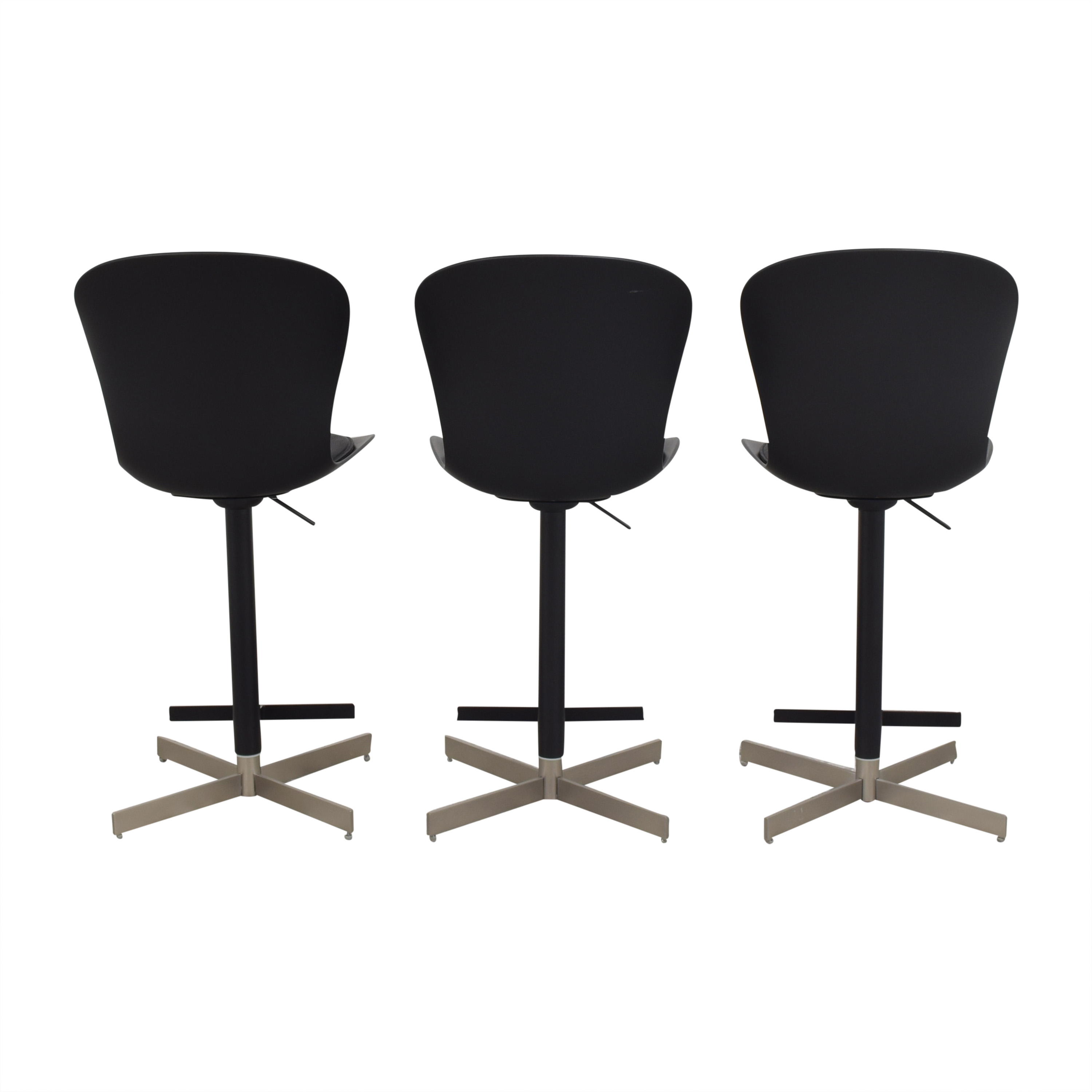 BoConcept BoConcept Adjustable Counter Stools black and silver