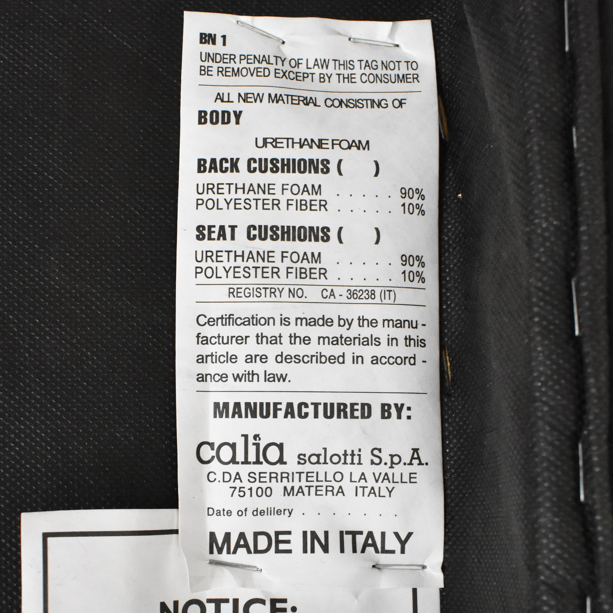 Calia Italia Calia Italia Square Ottoman on sale