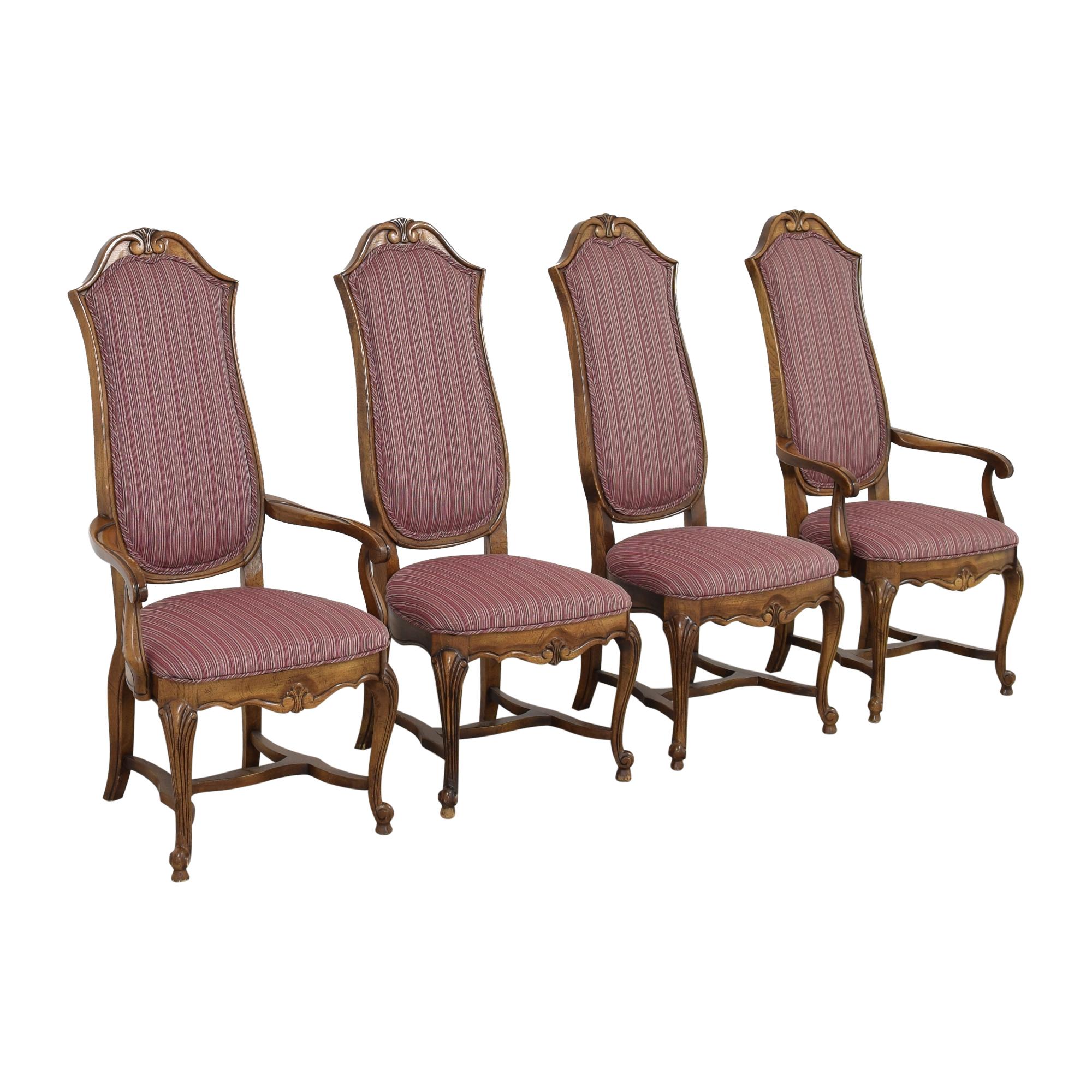 Ethan Allen Ethan Allen High Back Dining Chairs nj
