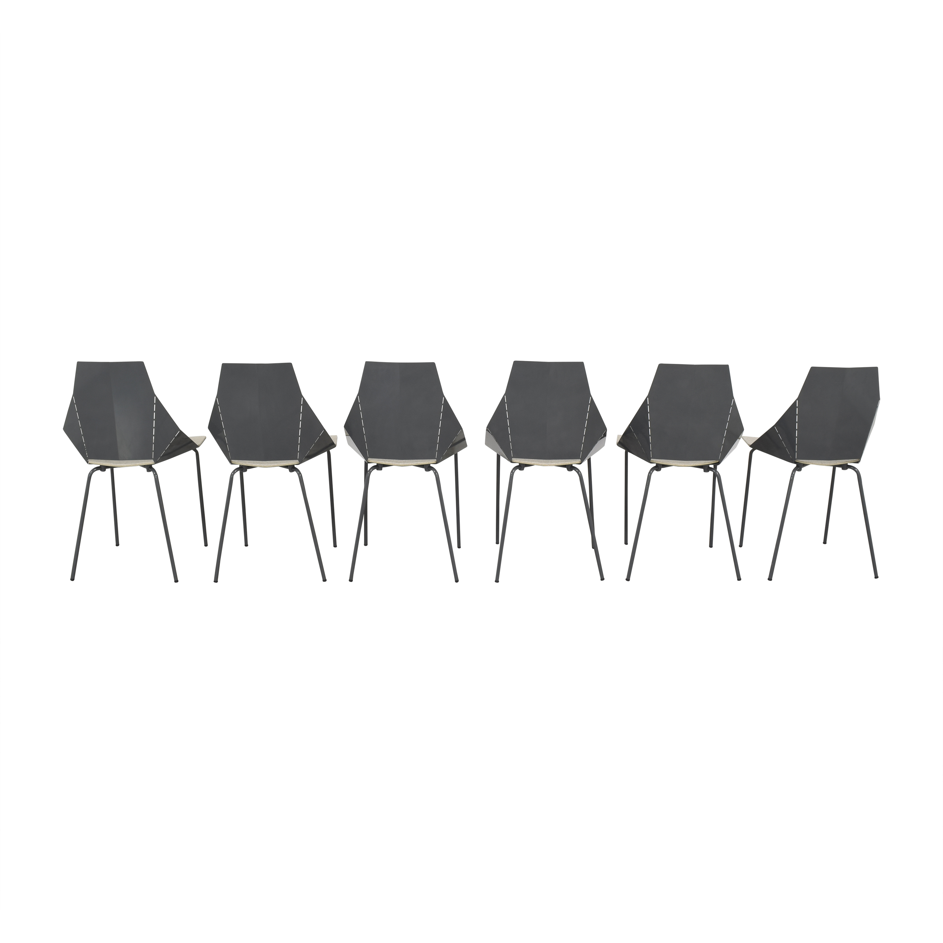 Blu Dot Real Good Chairs with Chair Pads / Dining Chairs