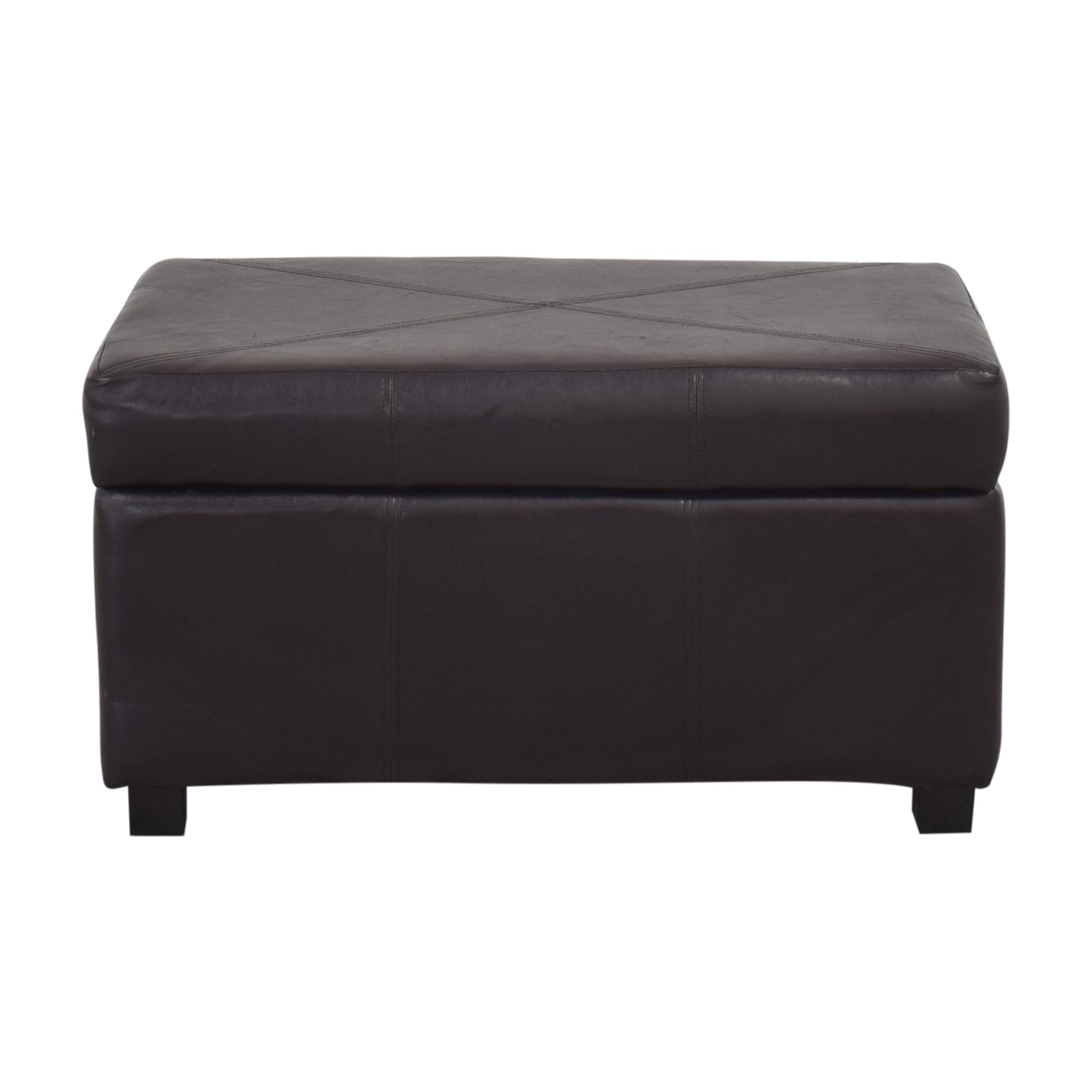 Modern Storage Bench dark brown