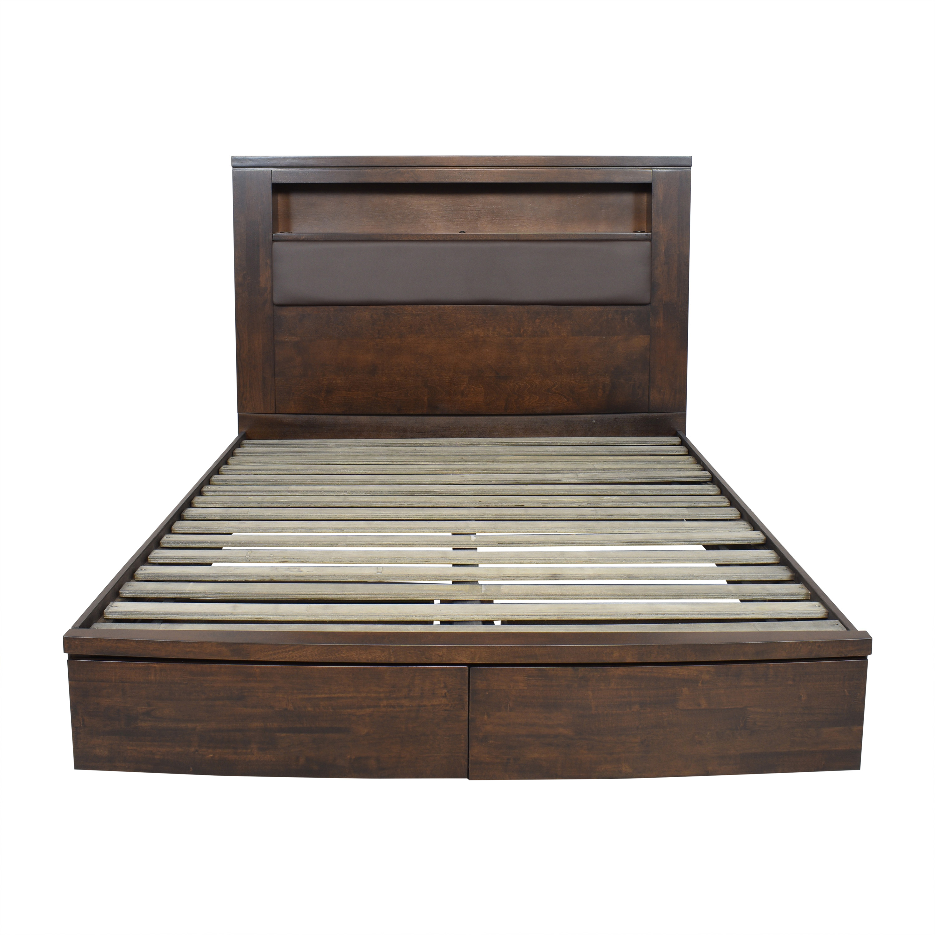 shop Raymour & Flanigan Raymour & Flanigan Wall Street Queen Storage Platform Bed online