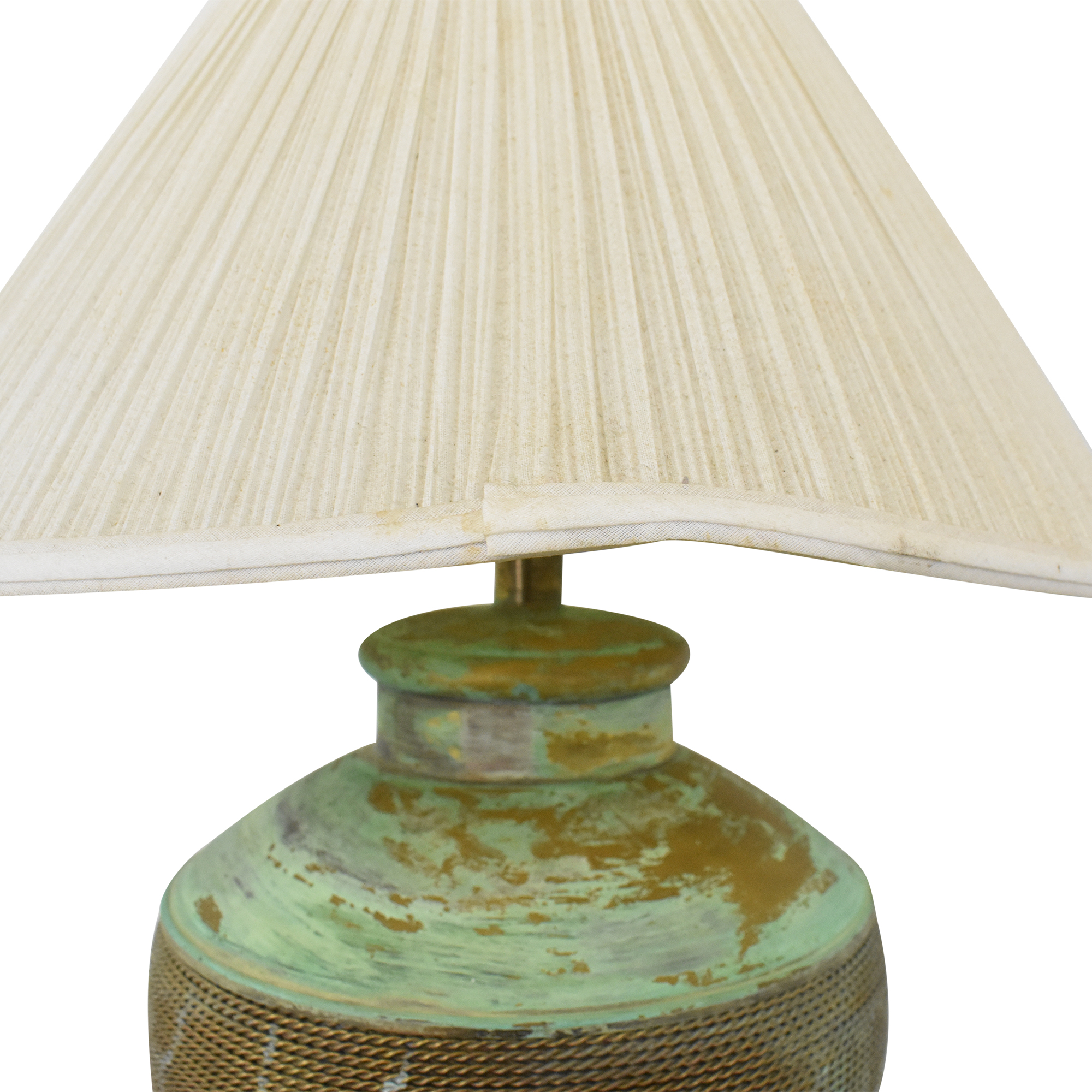 Vintage Green Table Lamp  coupon