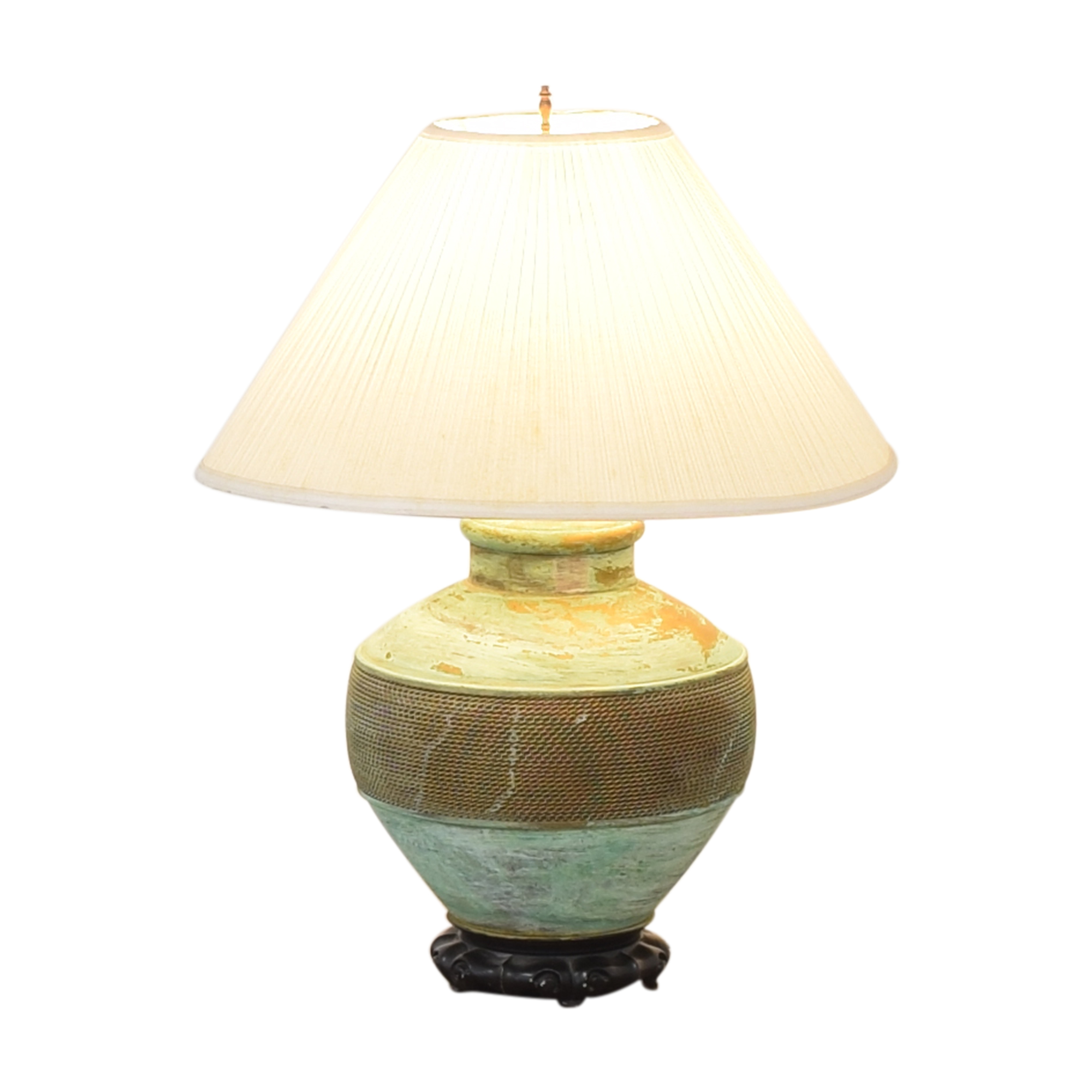 Vintage Green Table Lamp  for sale