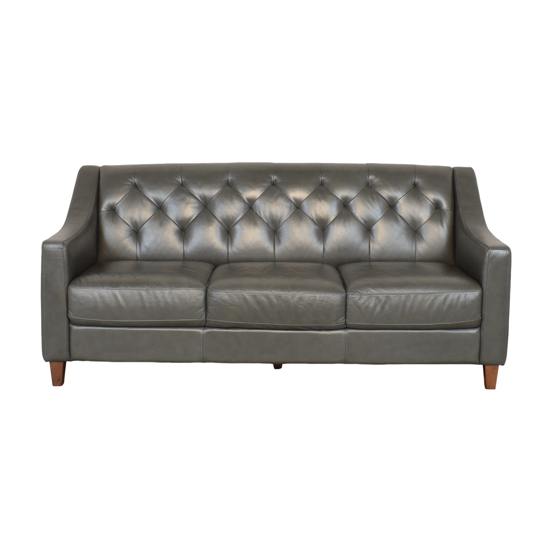 buy Macy's Chloe Tufted Three Cushion Sofa Macy's Classic Sofas
