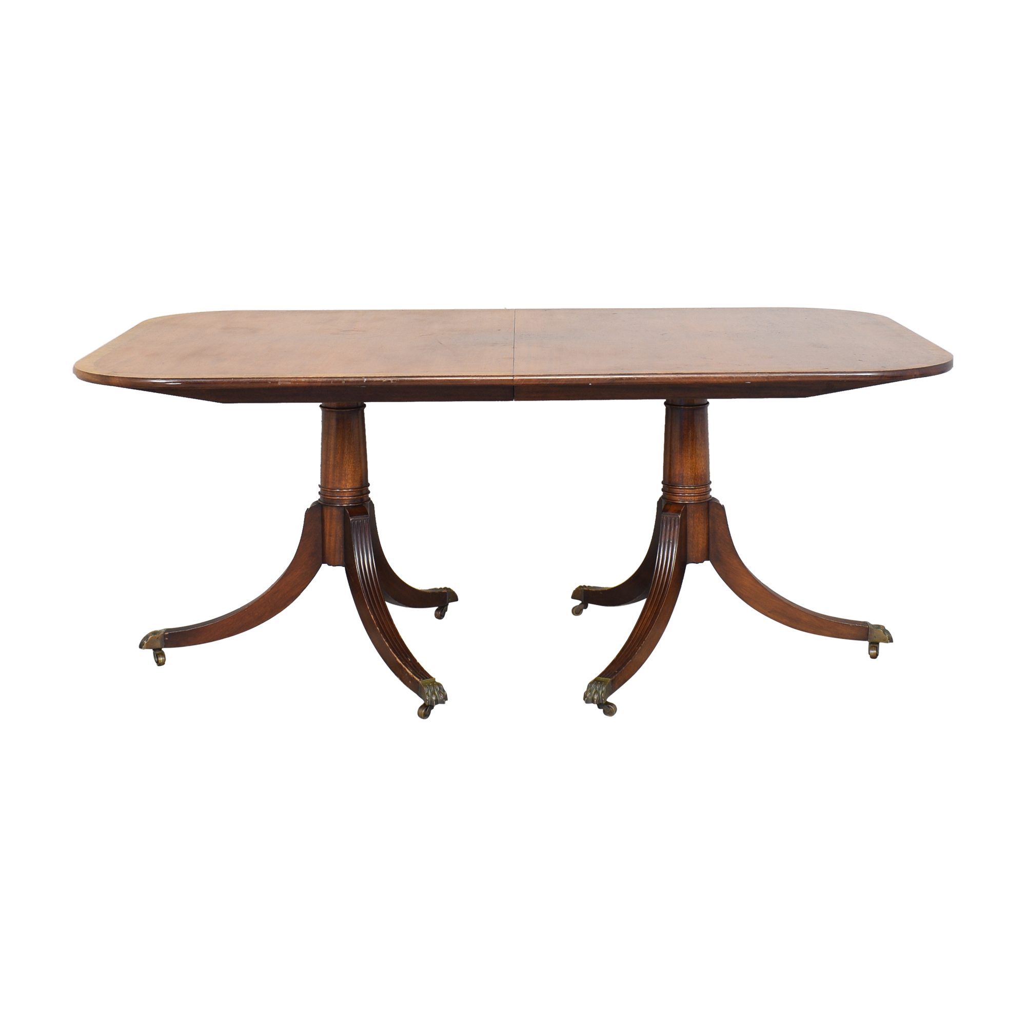 Vintage Clawfoot Extendable Dining Table for sale