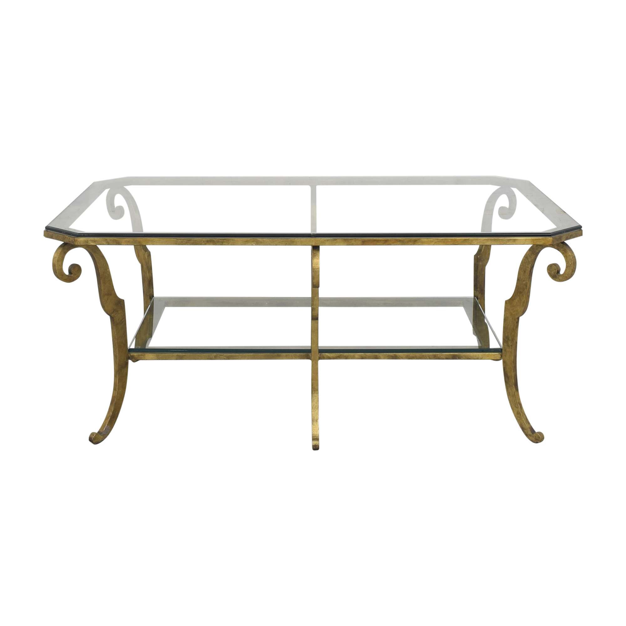 buy Ethan Allen Two Tier Scrolled Cocktail Table Ethan Allen Coffee Tables