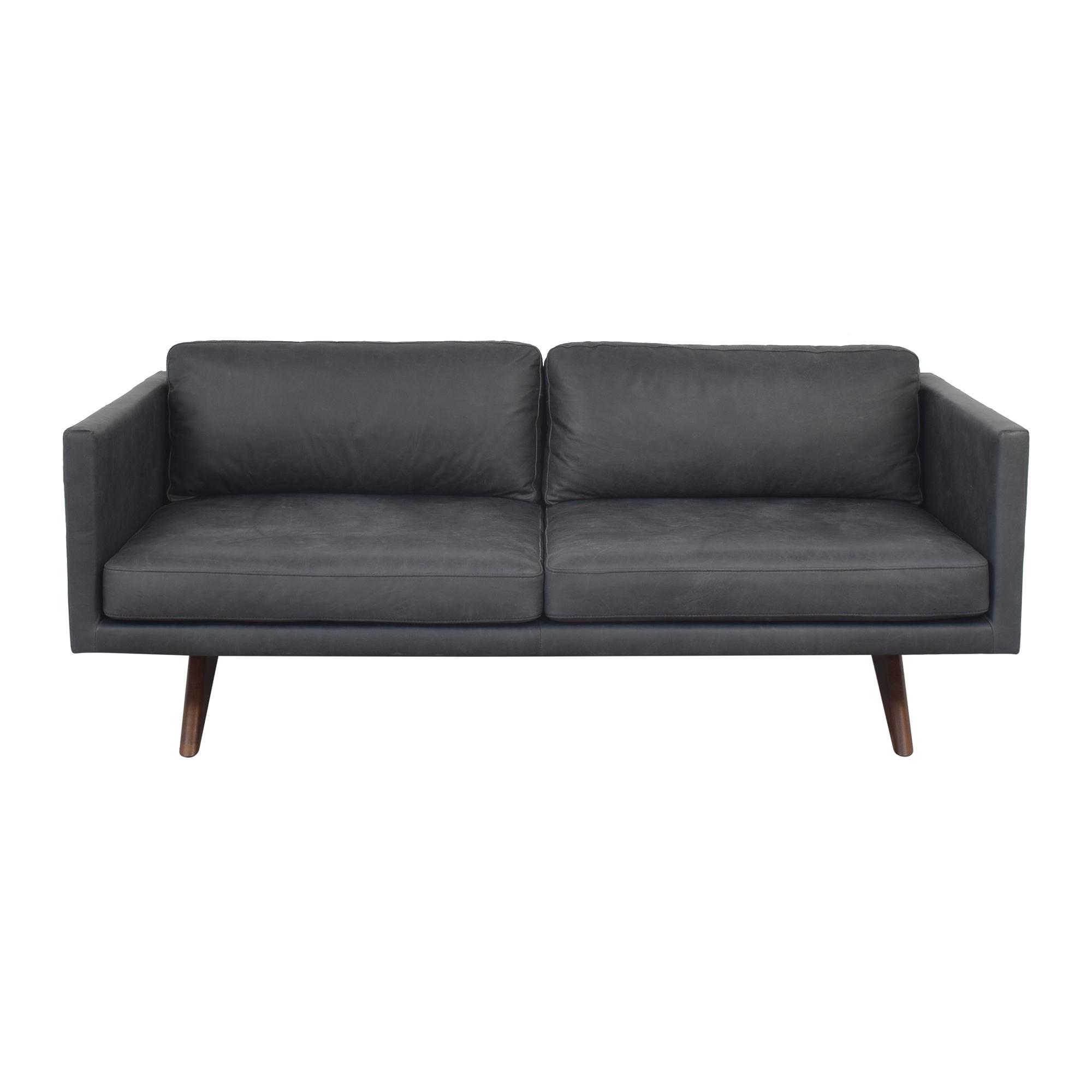 West Elm West Elm Modern Two Cushion Sofa second hand