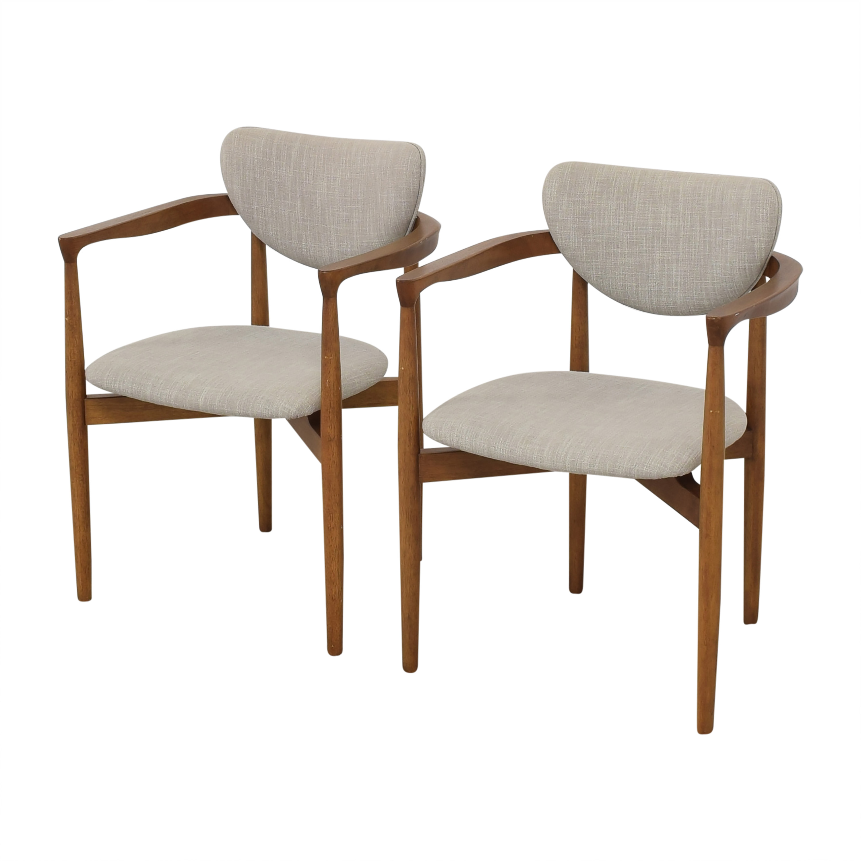 buy West Elm Dane Upholstered Dining Armchairs West Elm Chairs