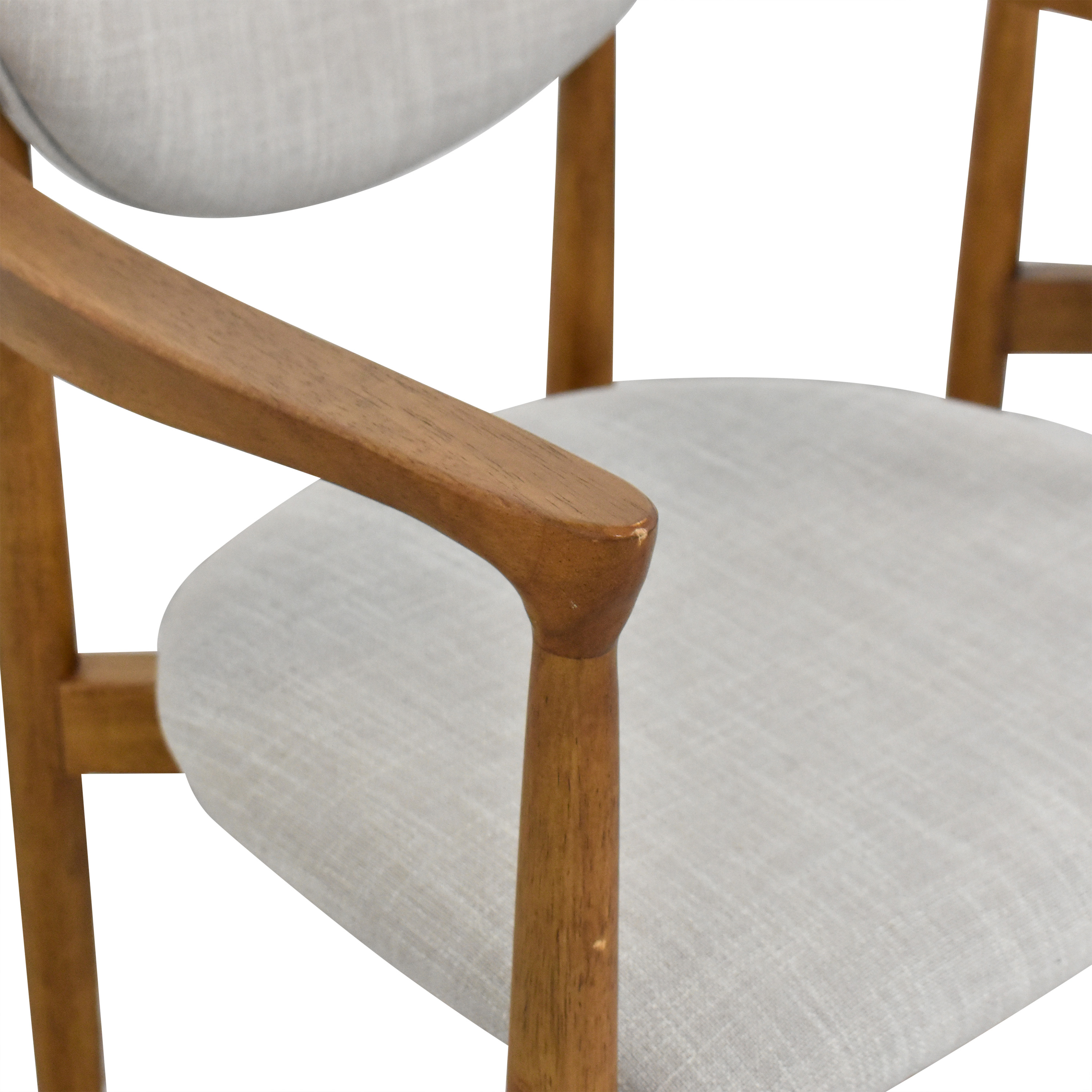 shop West Elm Dane Upholstered Dining Armchairs West Elm Dining Chairs