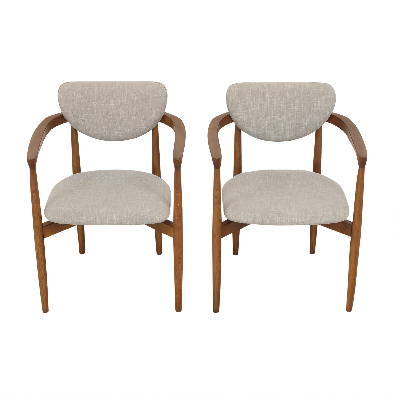 shop West Elm West Elm Dane Upholstered Dining Armchairs online