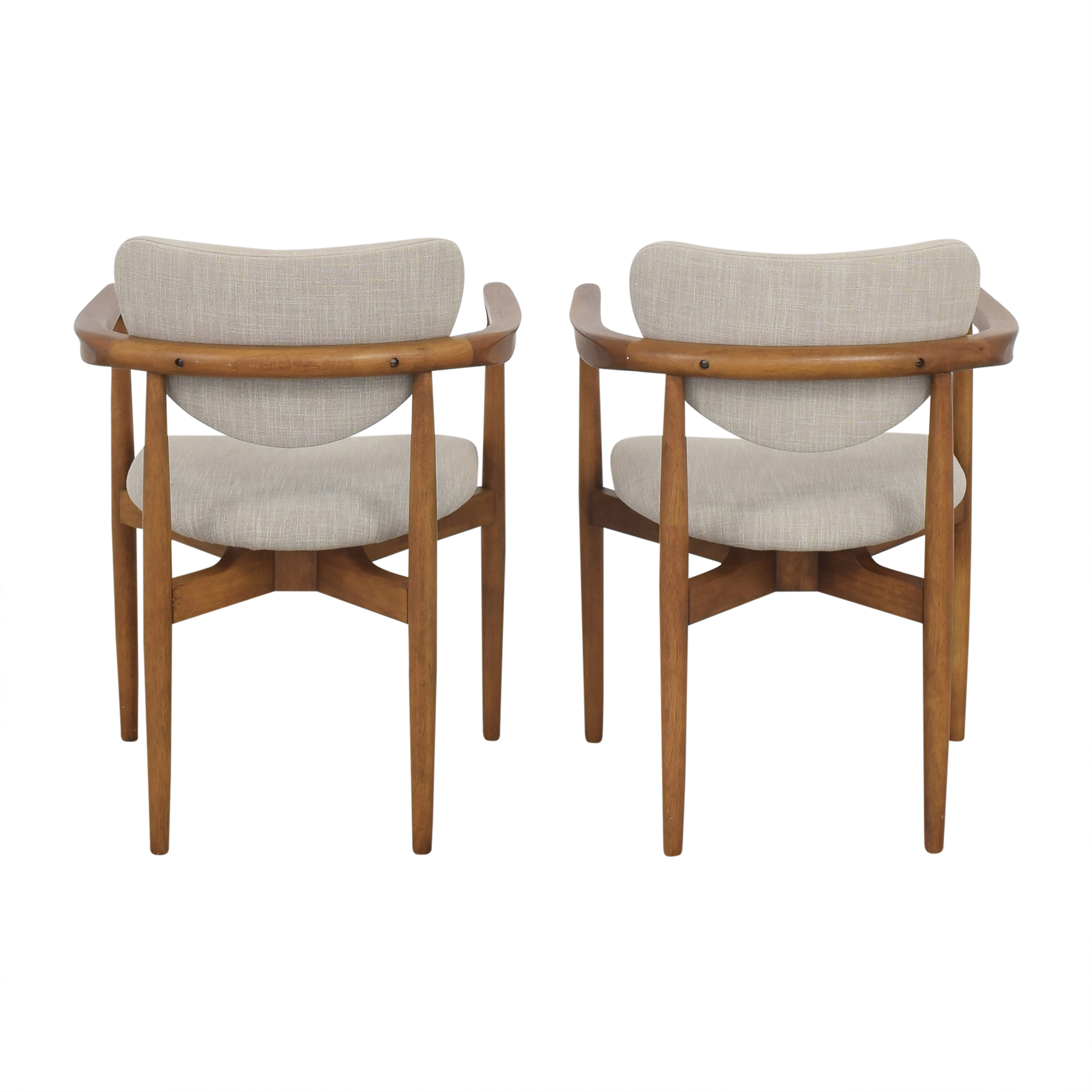 West Elm West Elm Dane Upholstered Dining Armchairs Chairs