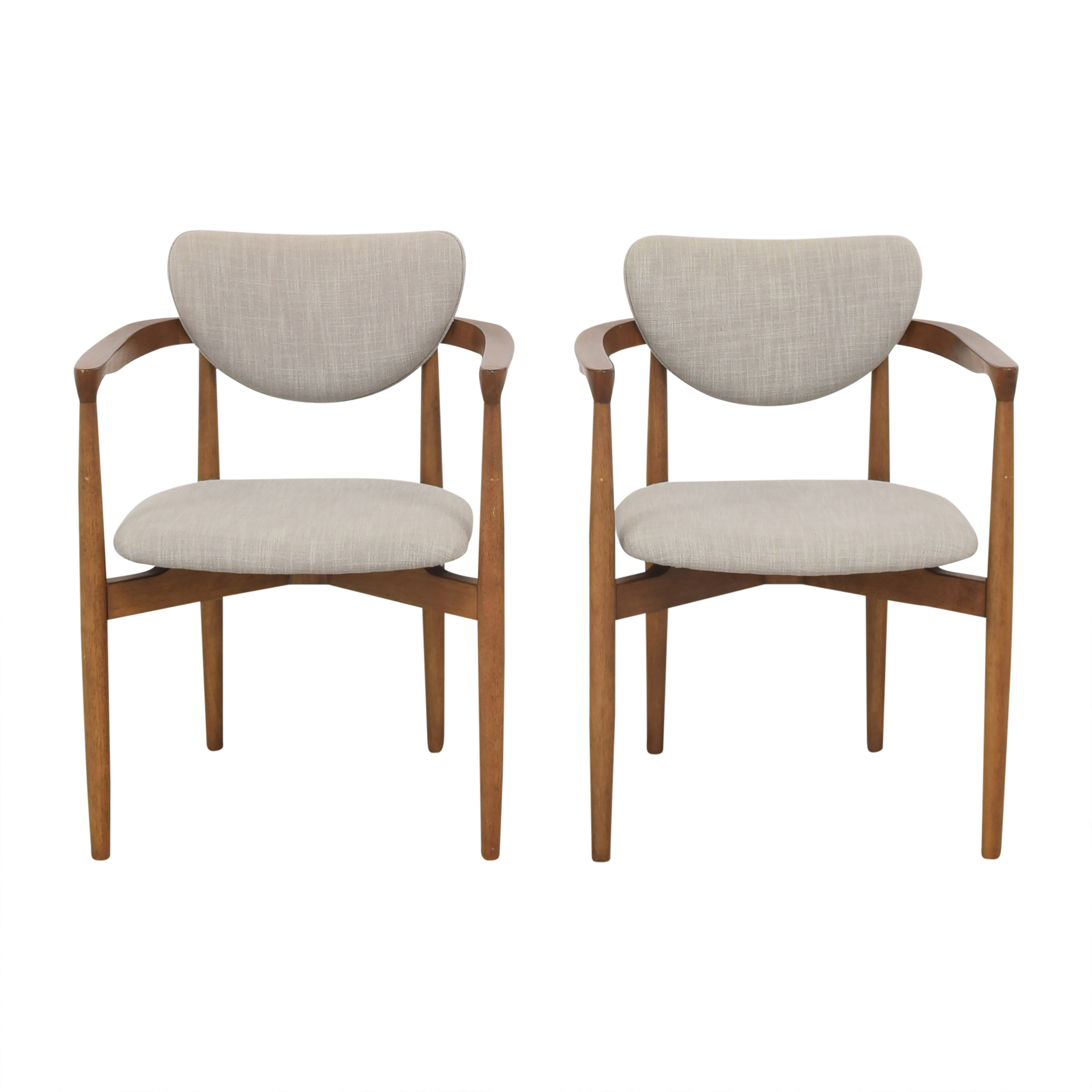 West Elm Dane Upholstered Dining Armchairs / Chairs