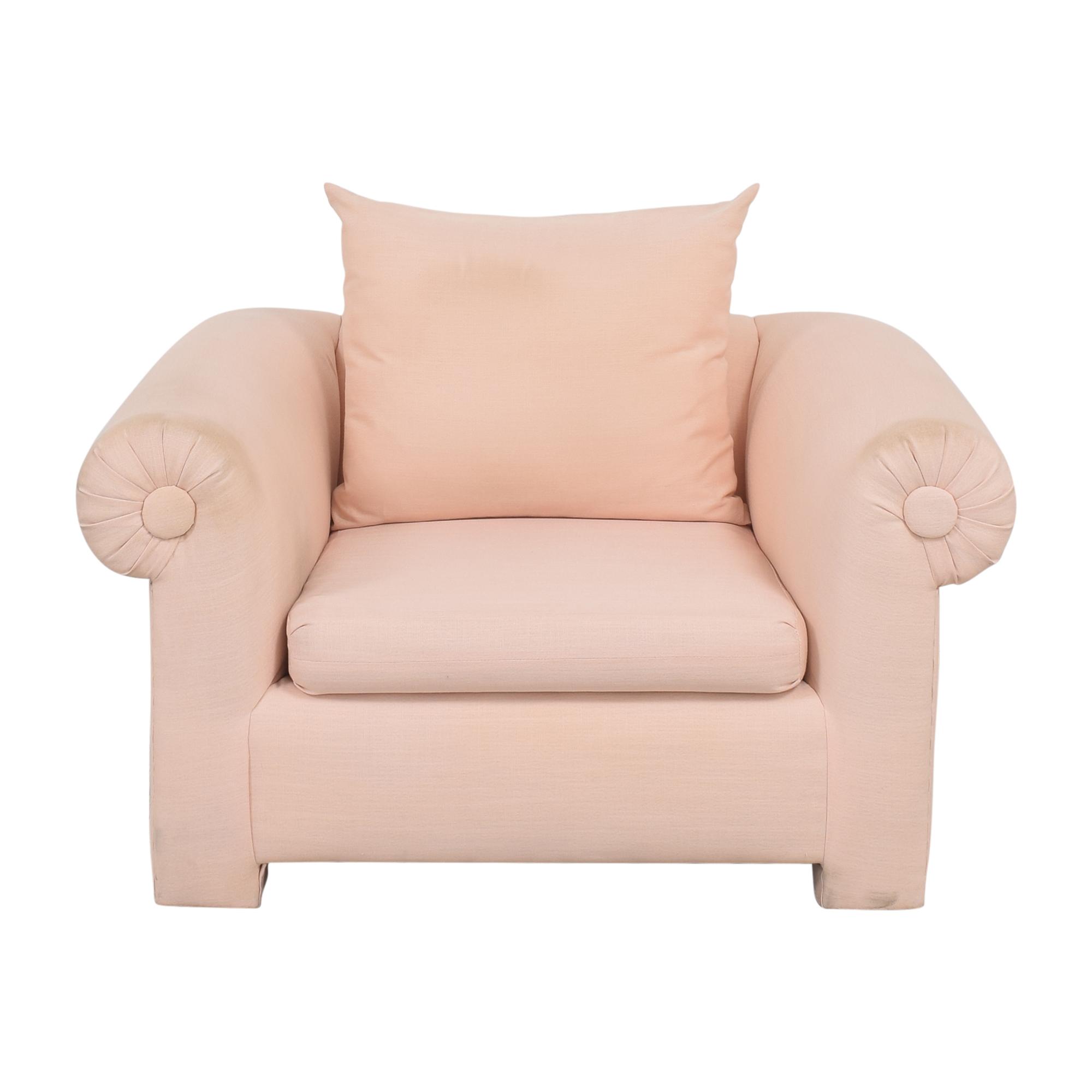 buy Kreiss Roll Arm Accent Chair Kreiss Chairs