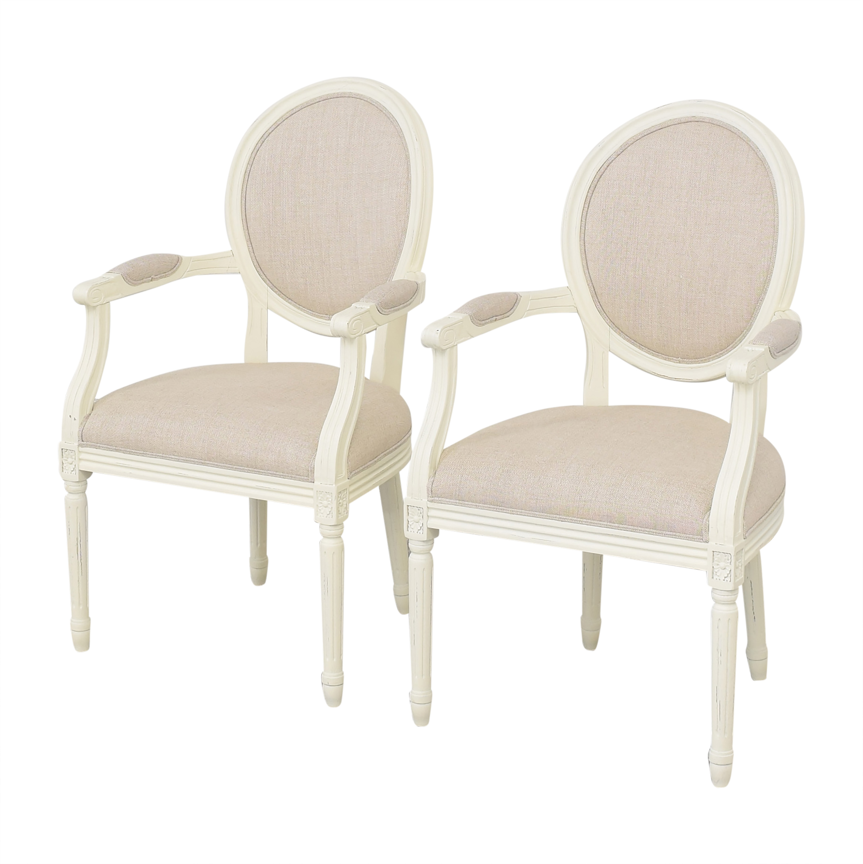 Restoration Hardware Restoration Hardware Vintage French Round Armchairs