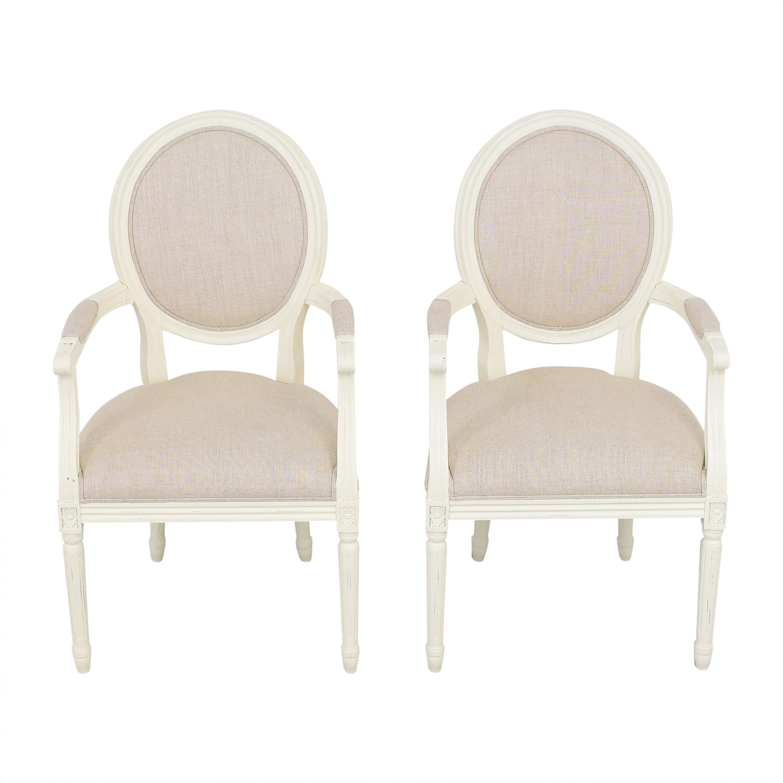 shop Restoration Hardware Vintage French Round Armchairs Restoration Hardware Chairs
