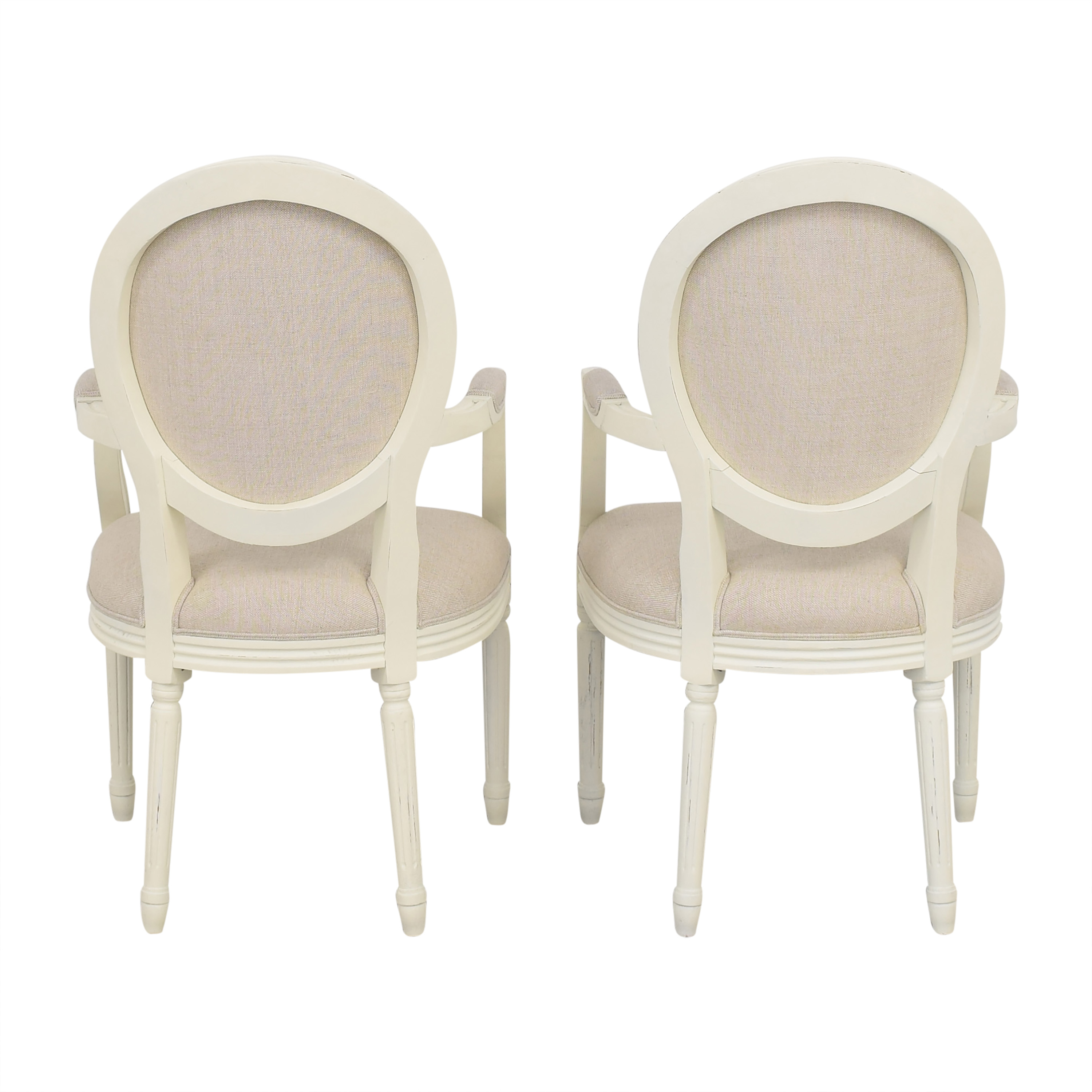 Restoration Hardware Restoration Hardware Vintage French Round Armchairs for sale