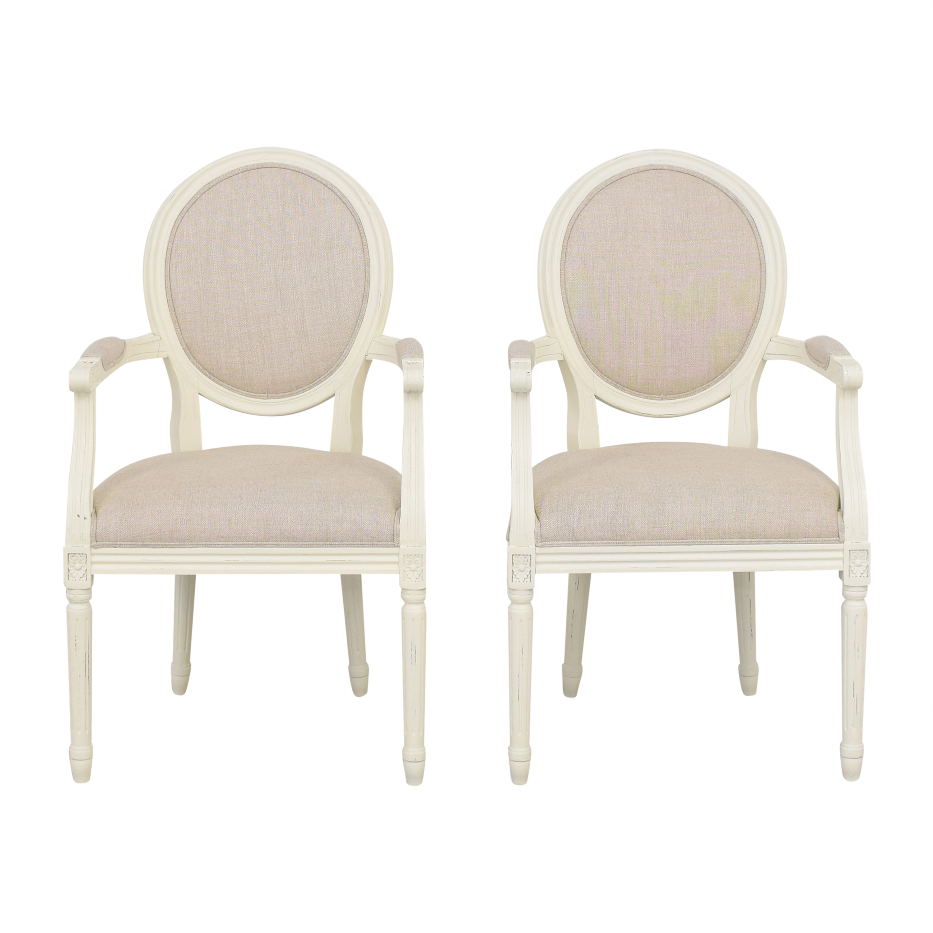Restoration Hardware Restoration Hardware Vintage French Round Armchairs coupon
