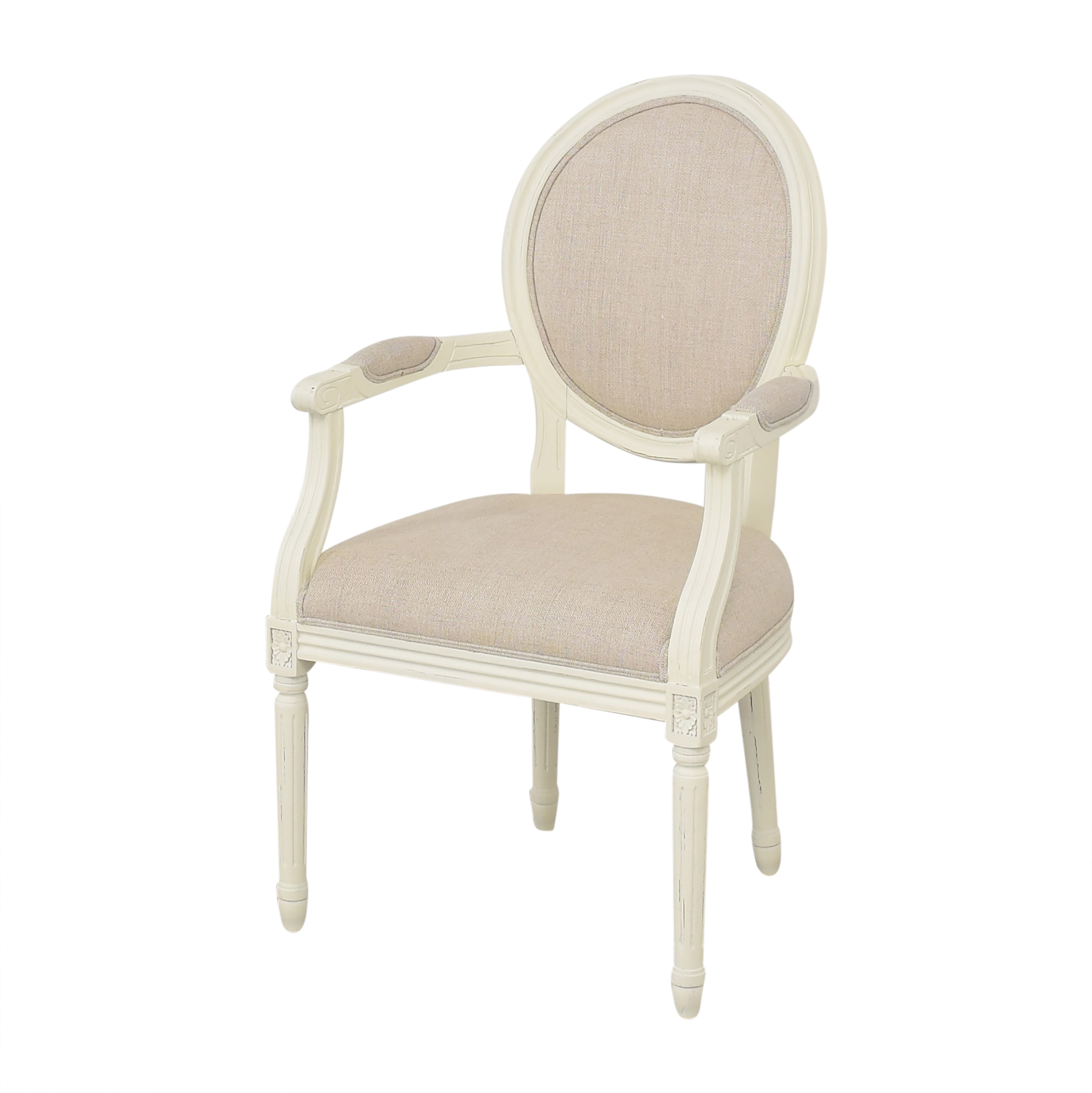 Restoration Hardware Vintage French Round Armchairs / Dining Chairs