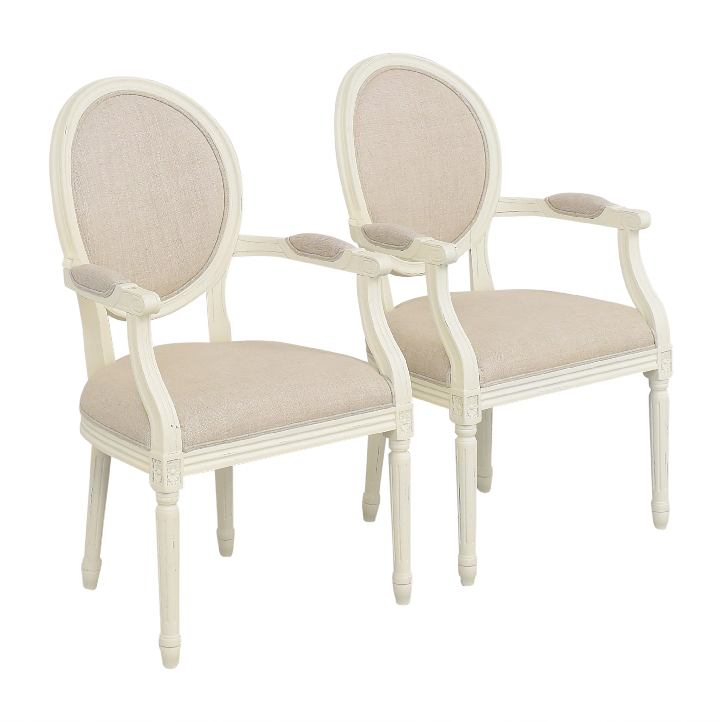 Restoration Hardware Restoration Hardware Vintage French Round Armchairs used